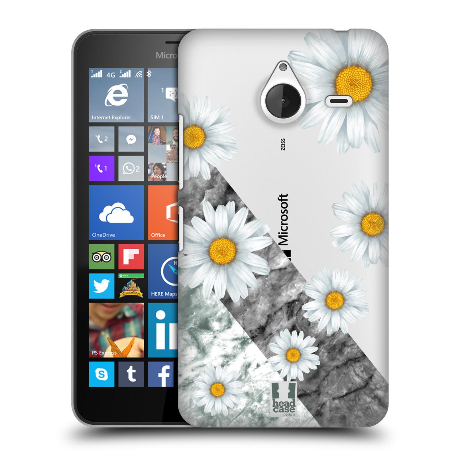 Plastové pouzdro na mobil Microsoft Lumia 640 XL - Head Case - Kopretiny a mramor