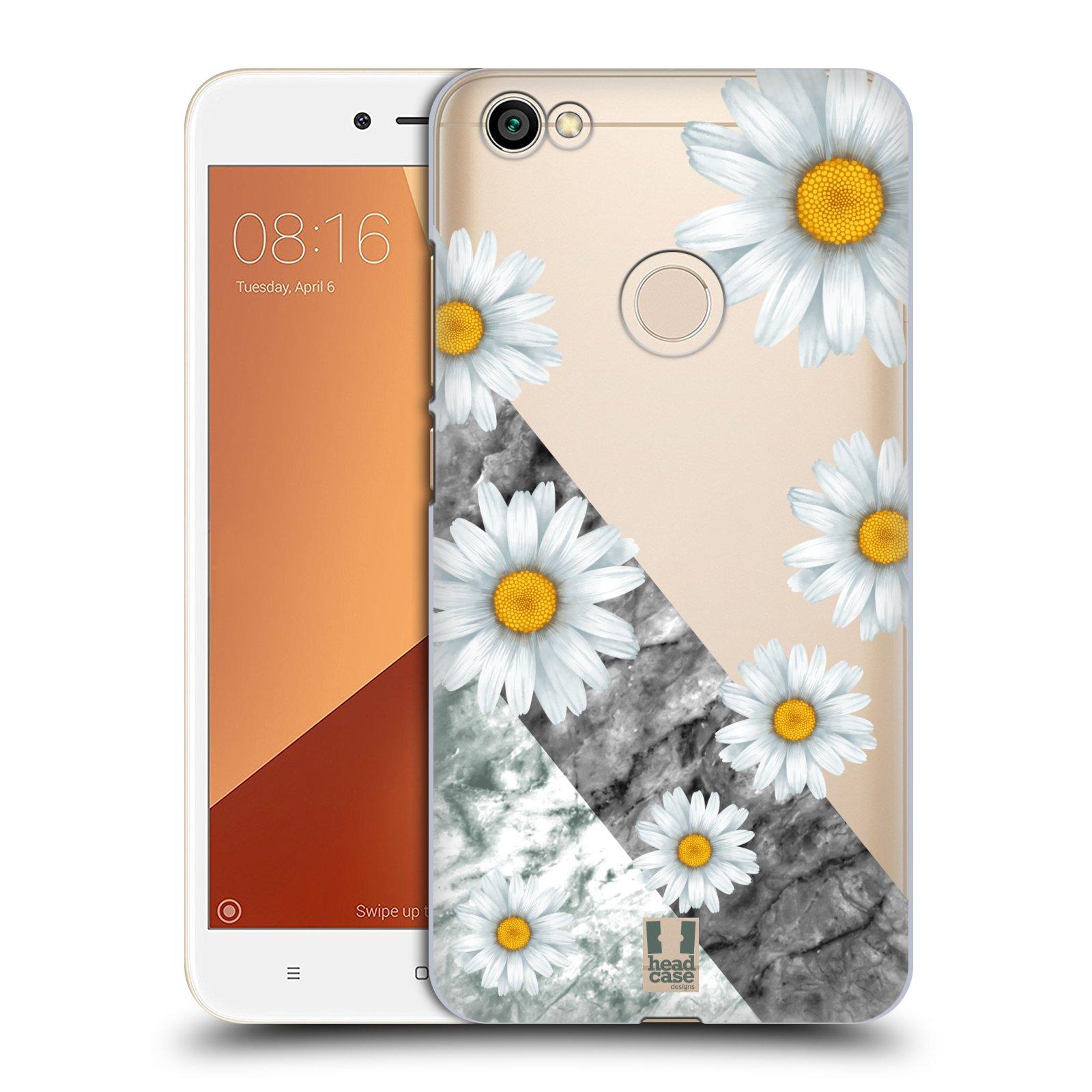 Plastové pouzdro na mobil Xiaomi Redmi Note 5A Prime - Head Case - Kopretiny a mramor