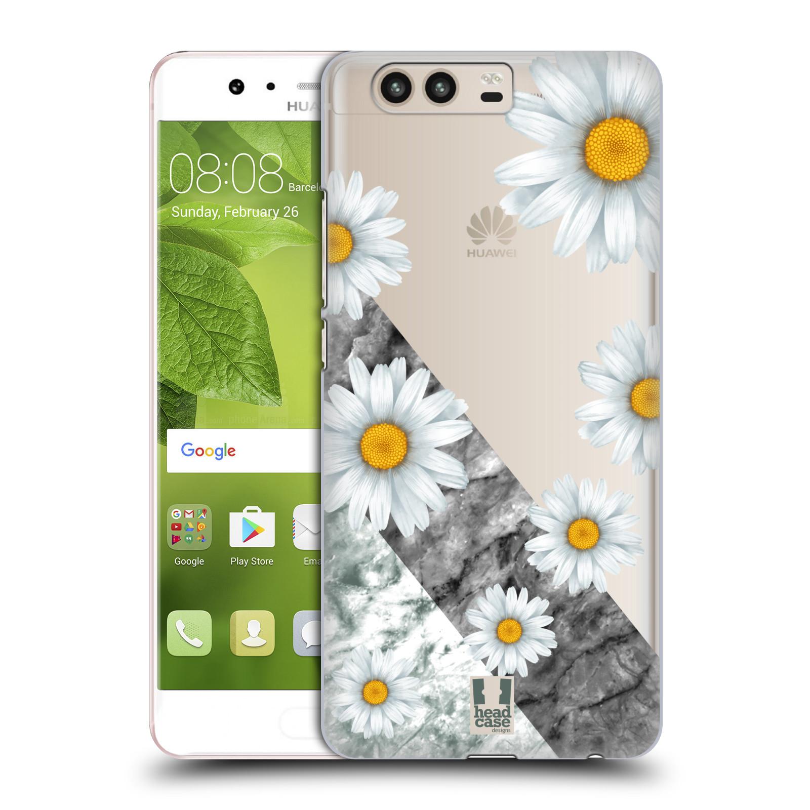 Plastové pouzdro na mobil Huawei P10 - Head Case - Kopretiny a mramor (Plastový kryt či obal na mobilní telefon s motivem Kopretiny a mramor pro Huawei P10 (Dual SIM))