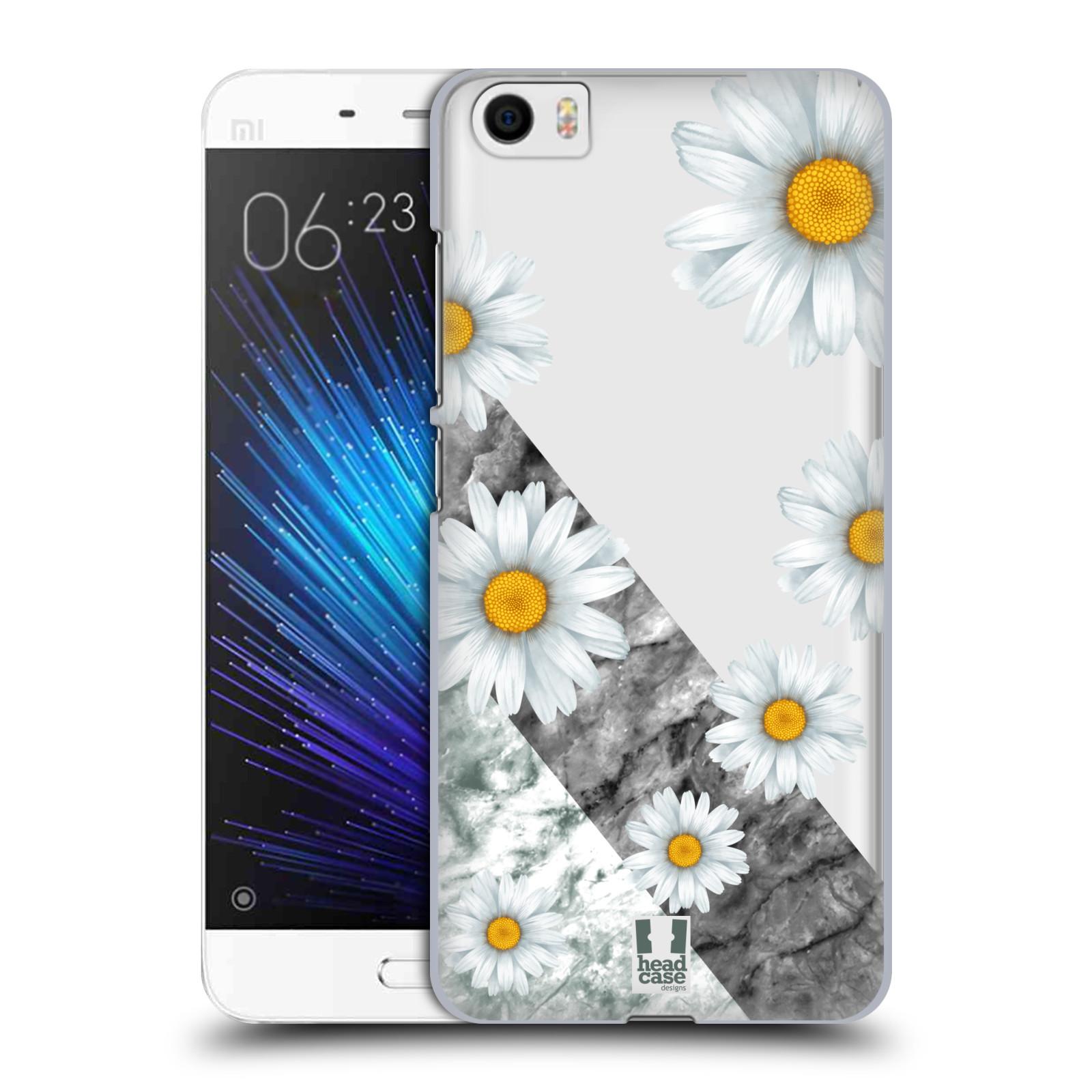 Plastové pouzdro na mobil Xiaomi Mi5 - Head Case - Kopretiny a mramor