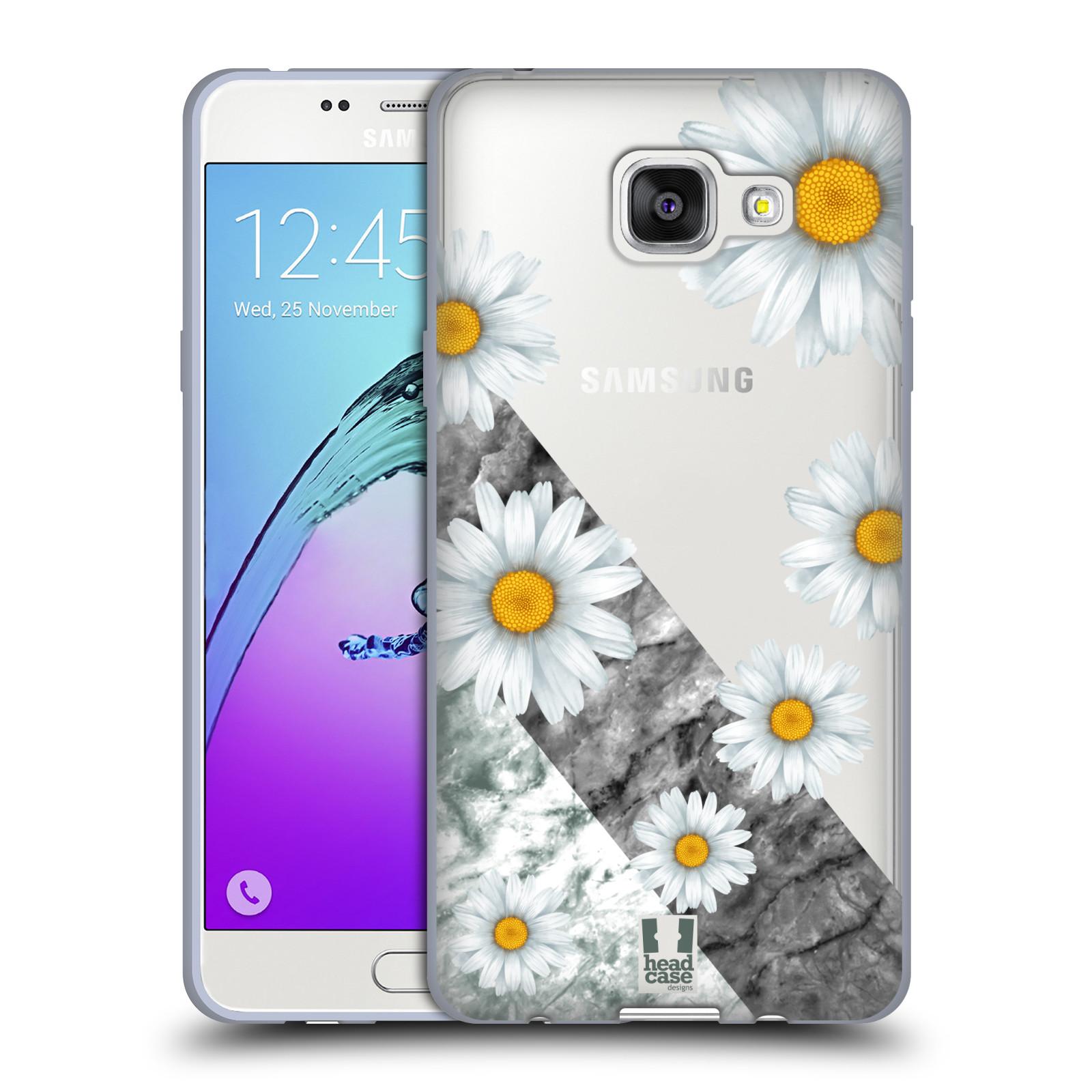 Silikonové pouzdro na mobil Samsung Galaxy A5 (2016) - Head Case - Kopretiny a mramor