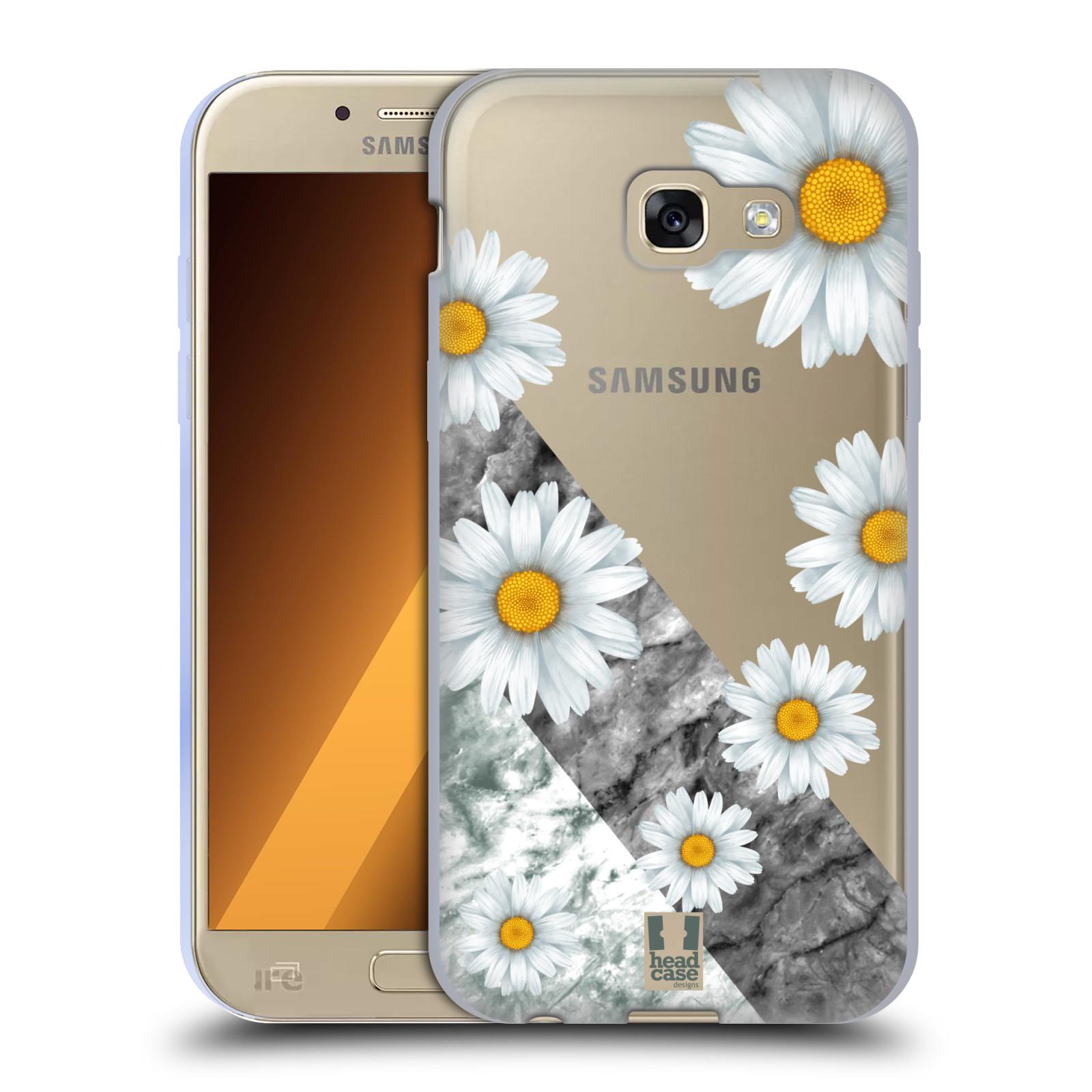 Silikonové pouzdro na mobil Samsung Galaxy A5 (2017) - Head Case - Kopretiny a mramor