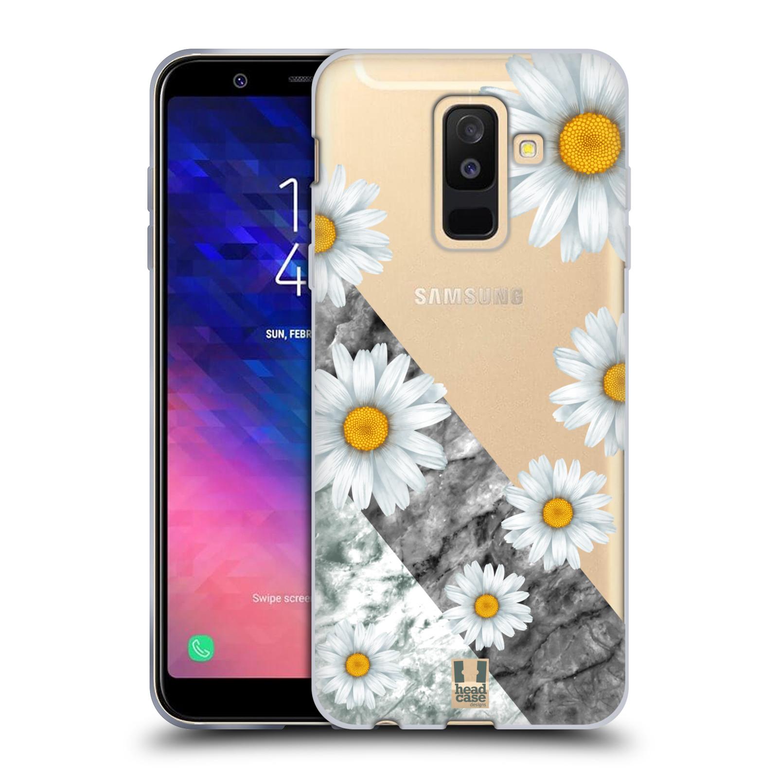 Silikonové pouzdro na mobil Samsung Galaxy A6 Plus (2018) - Head Case - Kopretiny a mramor