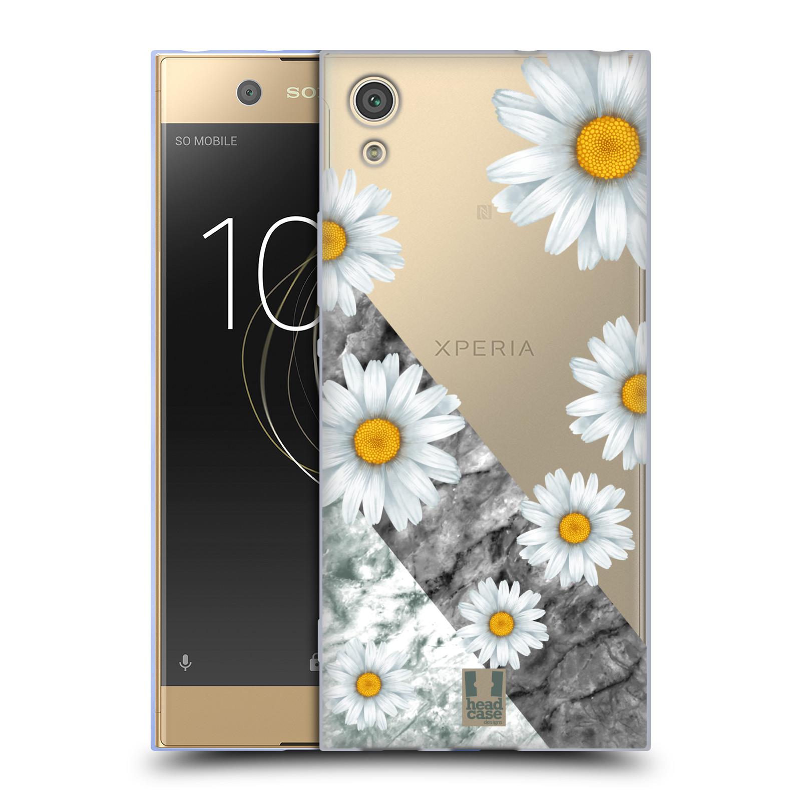 Silikonové pouzdro na mobil Sony Xperia XA1 - Head Case - Kopretiny a mramor