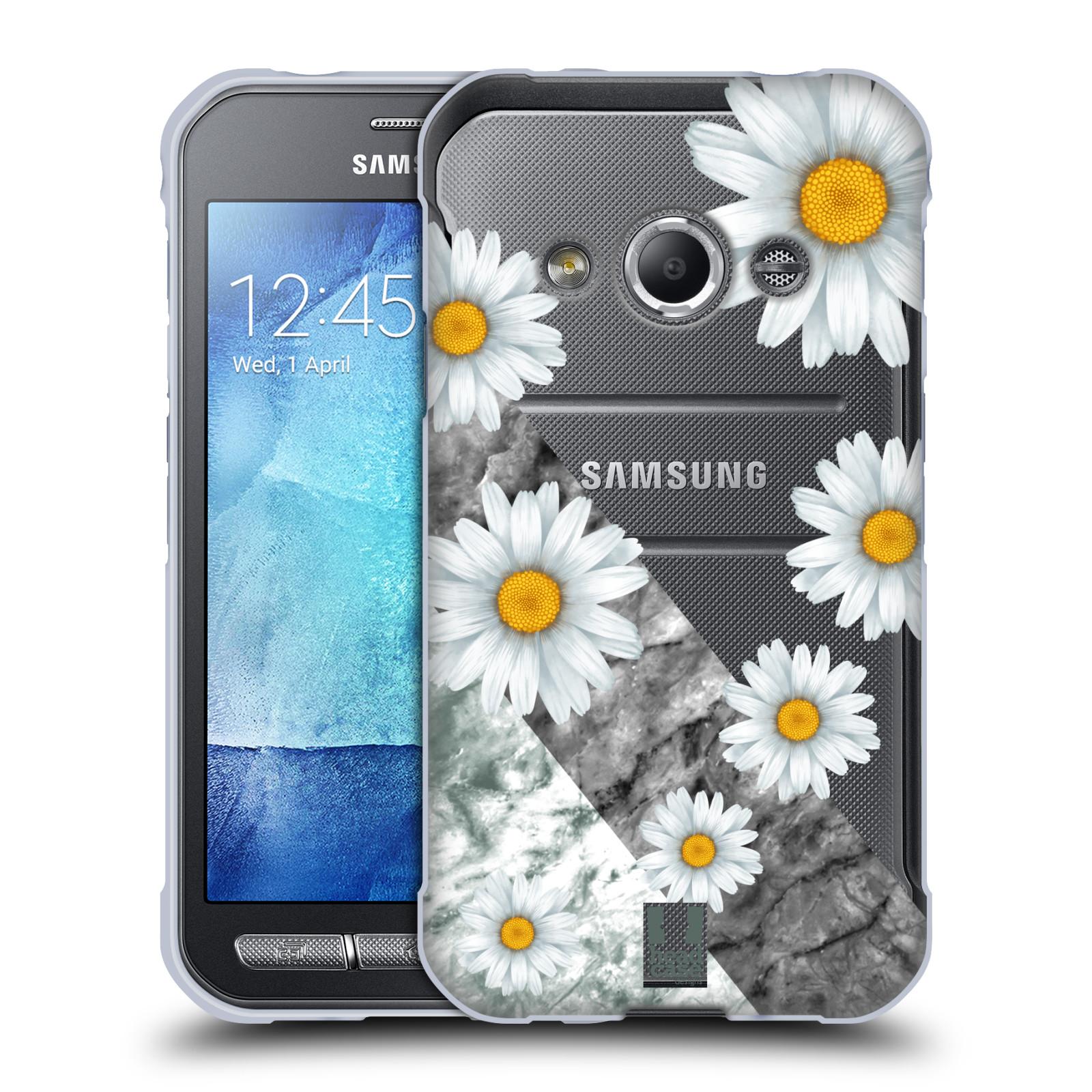 Silikonové pouzdro na mobil Samsung Galaxy Xcover 3 - Head Case - Kopretiny a mramor