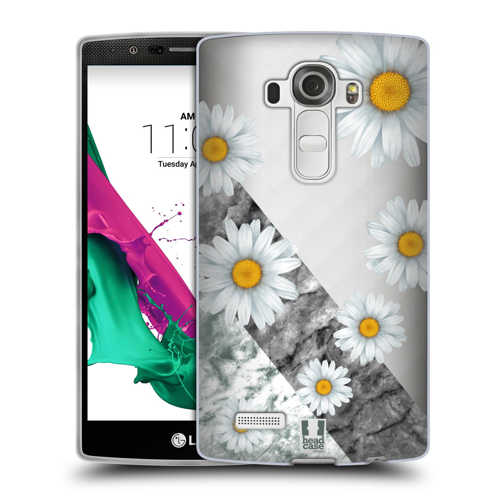 Silikonové pouzdro na mobil LG G4 - Head Case - Kopretiny a mramor