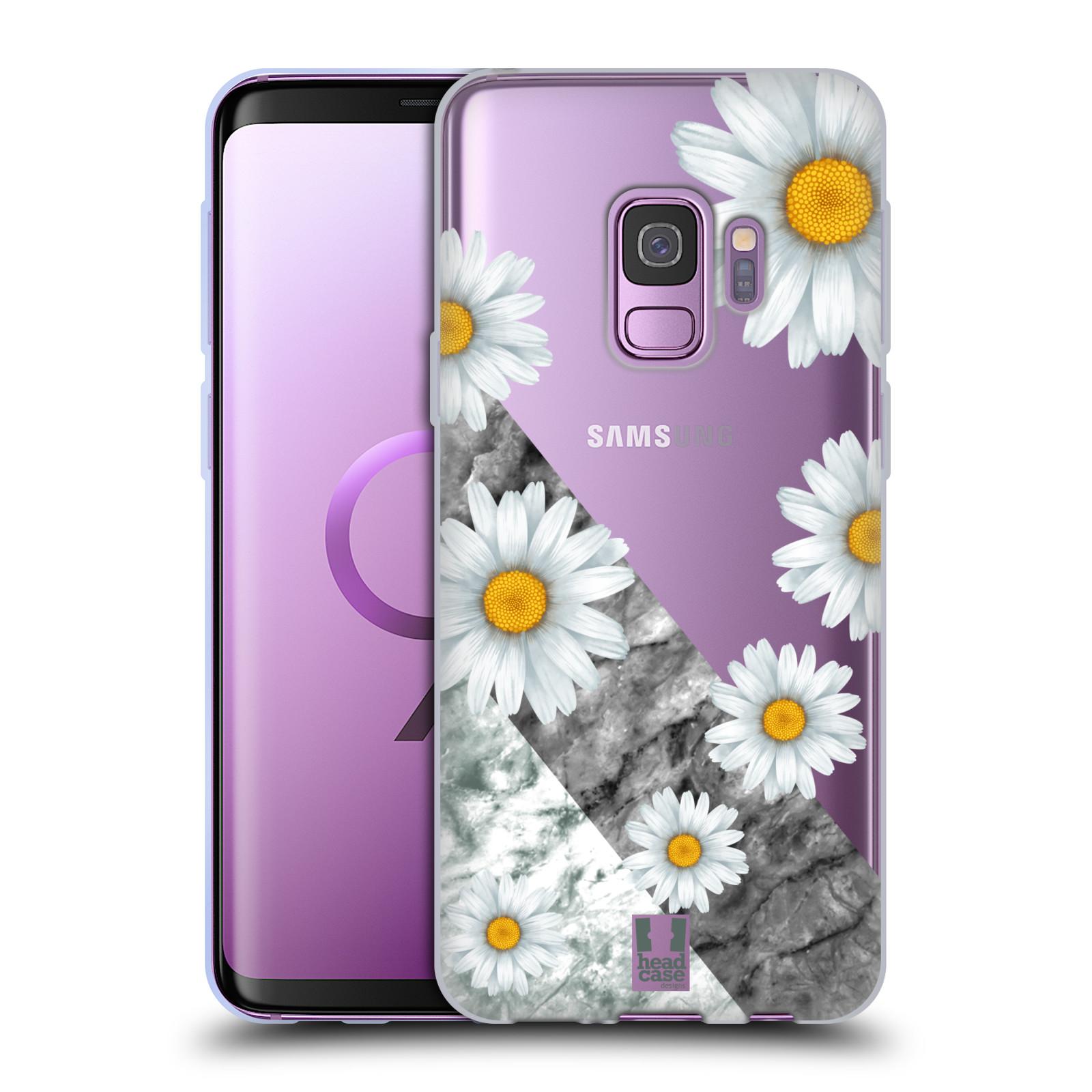 Silikonové pouzdro na mobil Samsung Galaxy S9 - Head Case - Kopretiny a mramor