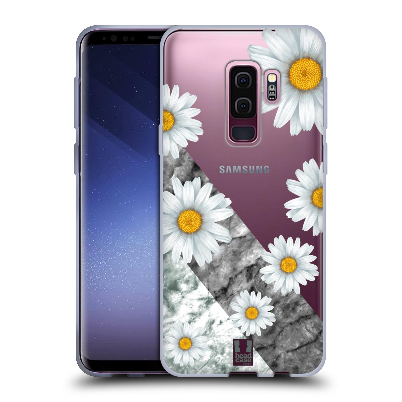 Silikonové pouzdro na mobil Samsung Galaxy S9 Plus - Head Case - Kopretiny a mramor