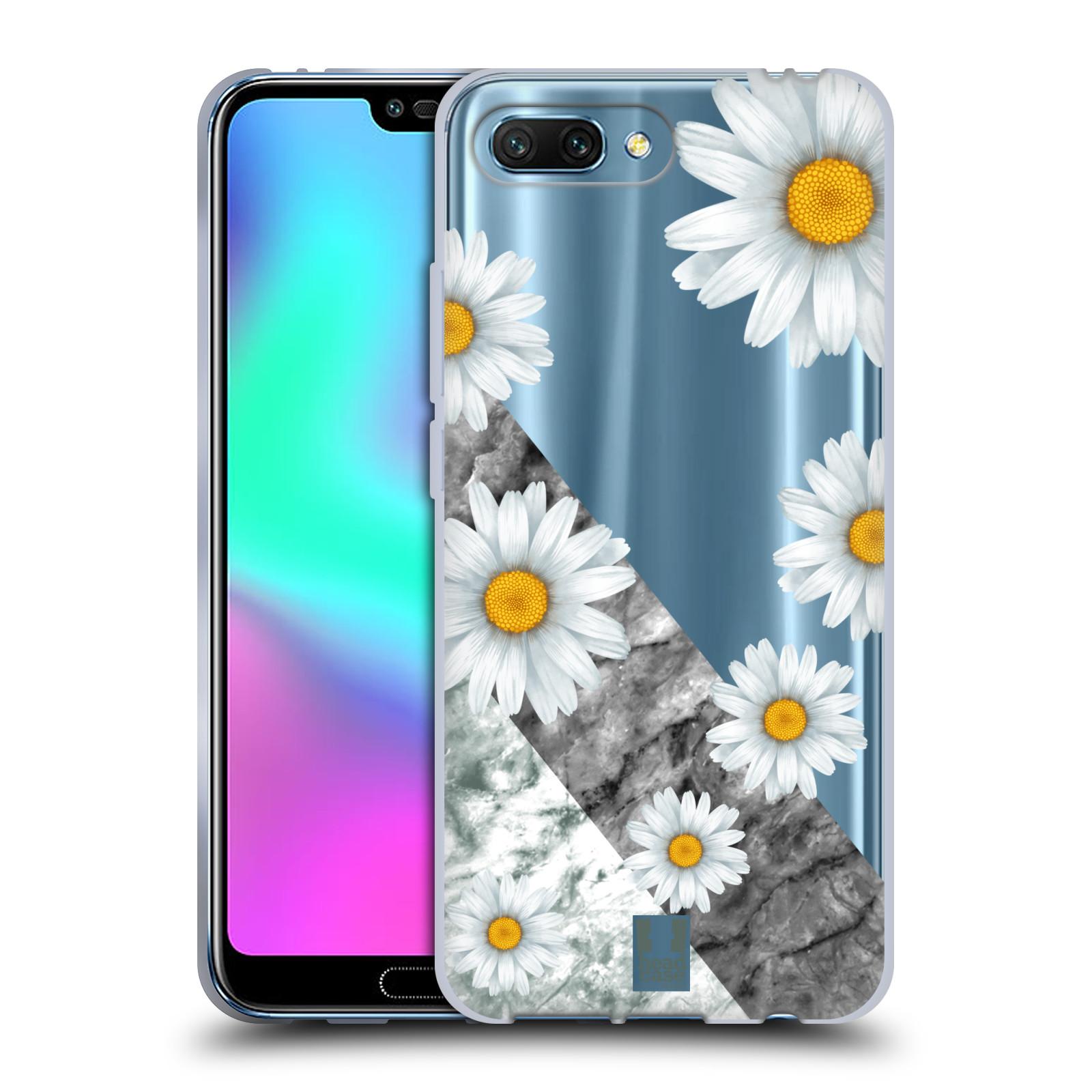 Silikonové pouzdro na mobil Honor 10 - Head Case - Kopretiny a mramor