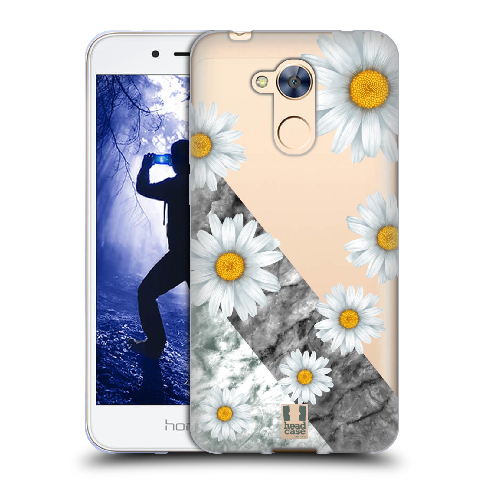Silikonové pouzdro na mobil Honor 6A - Head Case - Kopretiny a mramor