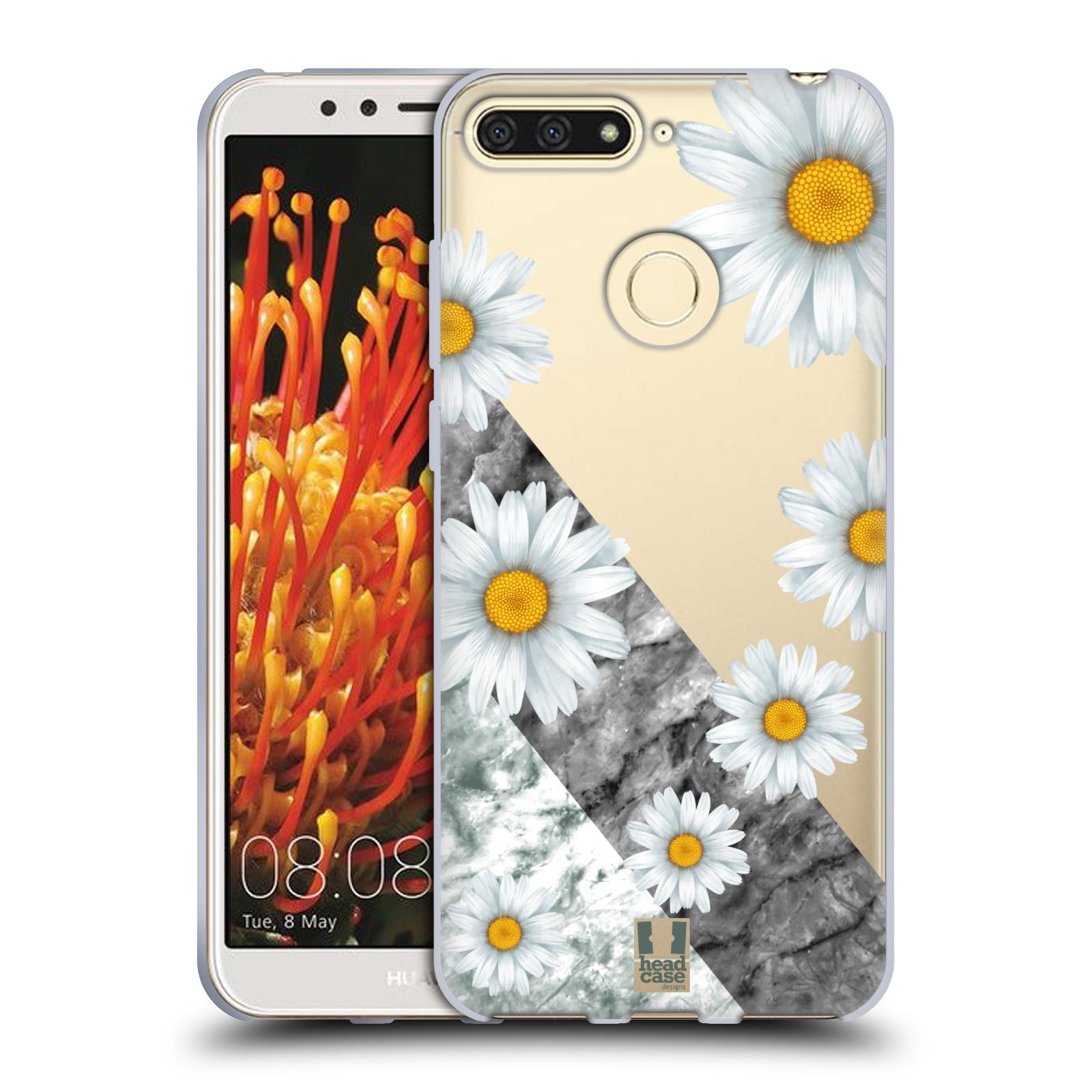 Silikonové pouzdro na mobil Huawei Y6 Prime (2018) - Head Case - Kopretiny a mramor