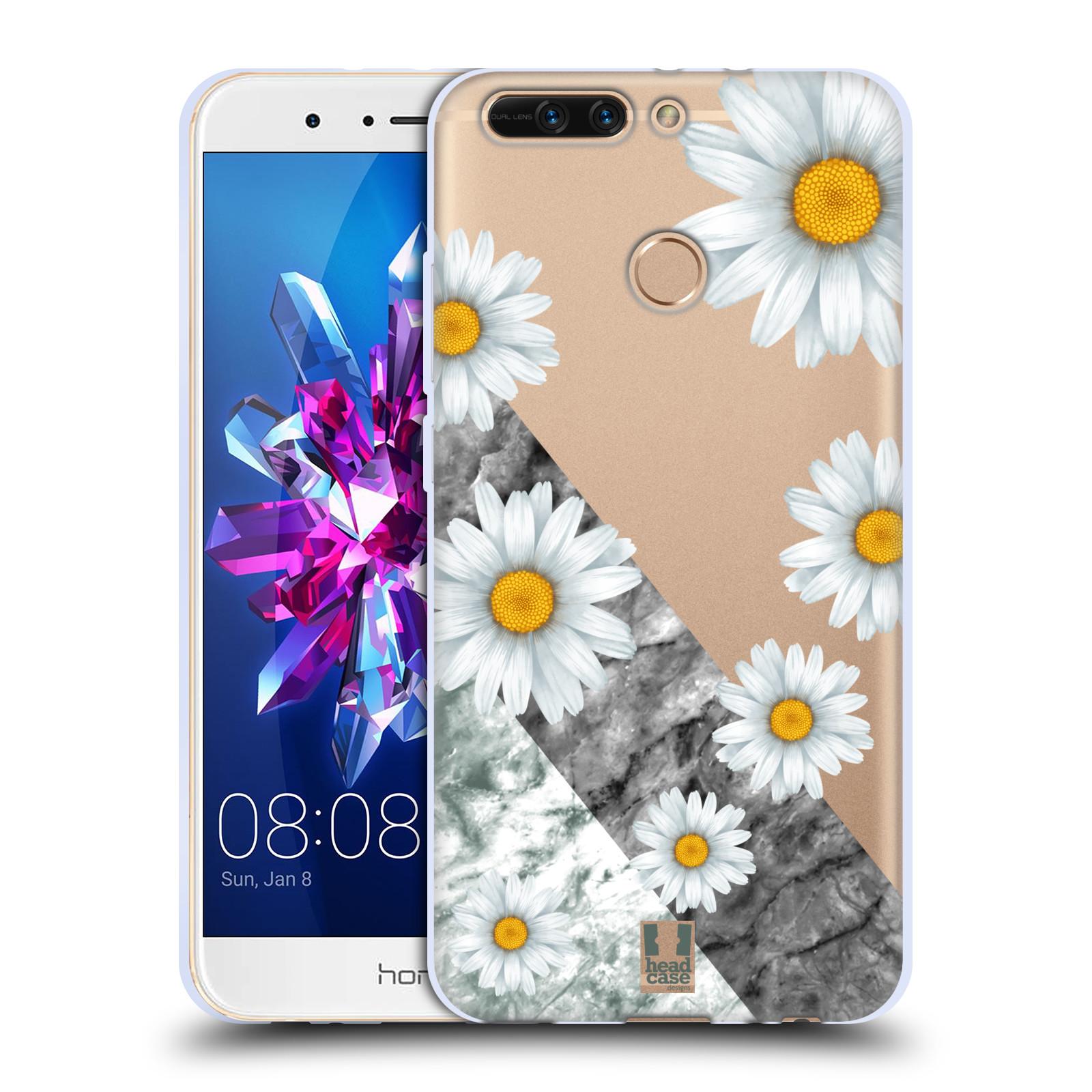 Silikonové pouzdro na mobil Honor 8 Pro - Head Case - Kopretiny a mramor