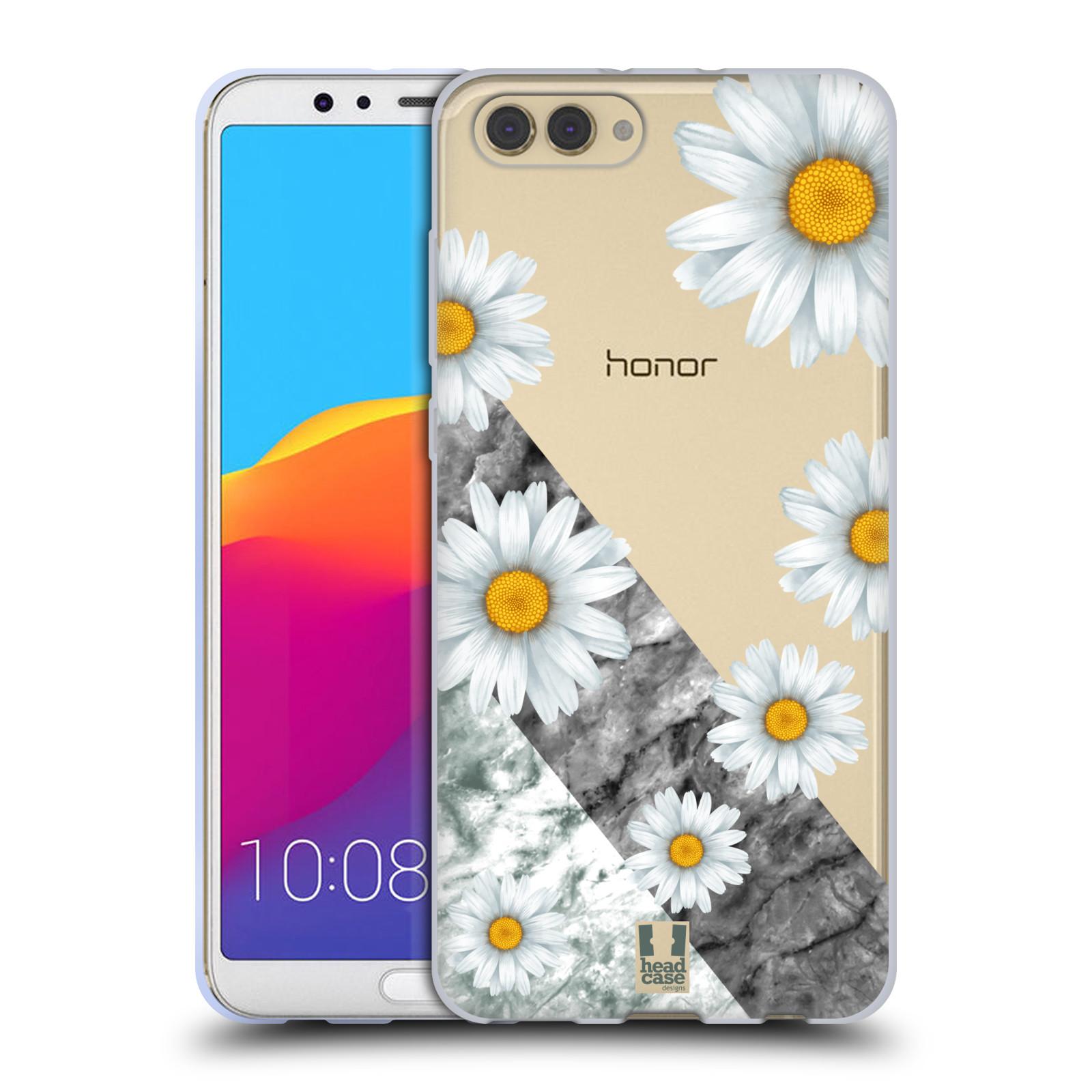 Silikonové pouzdro na mobil Honor View 10 - Head Case - Kopretiny a mramor