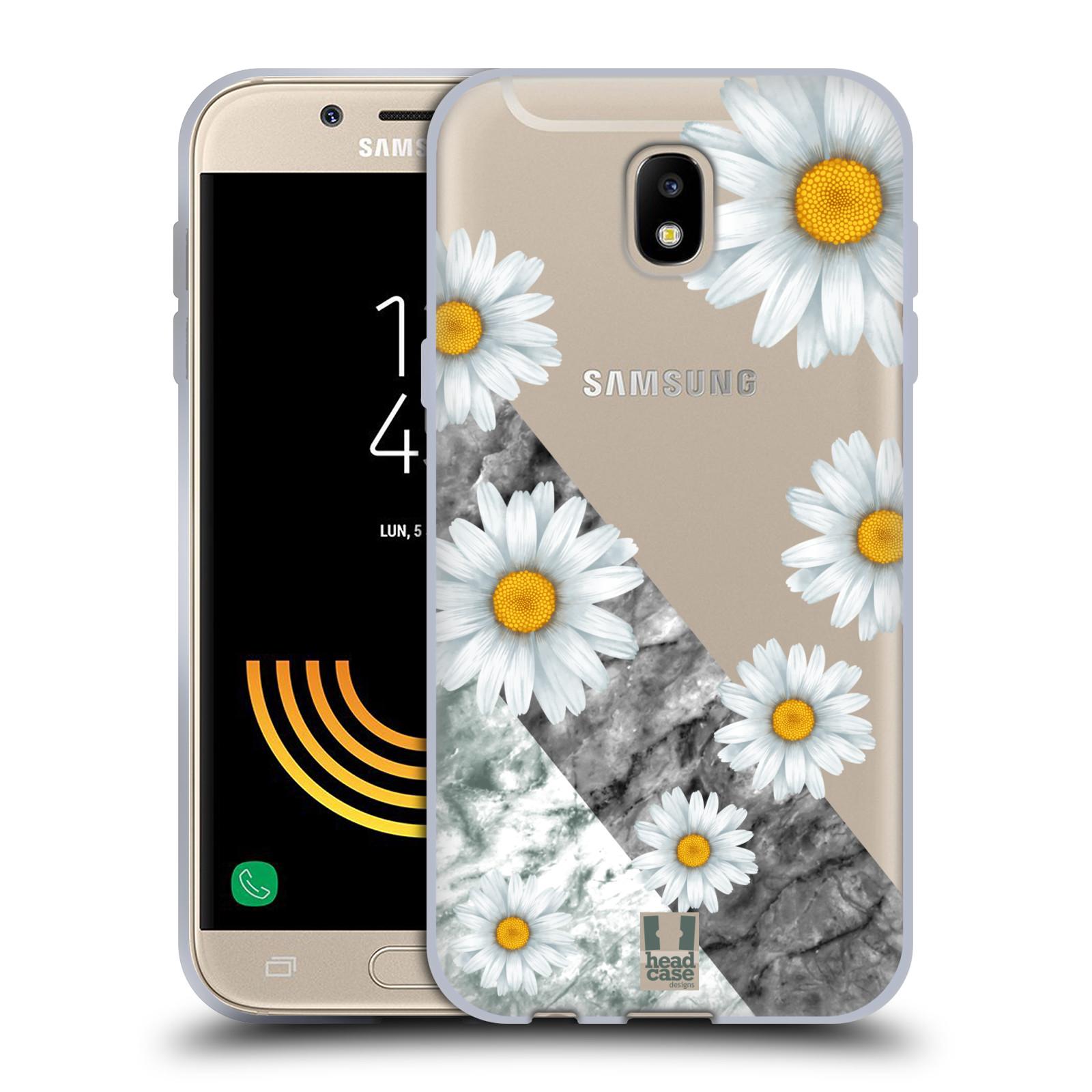 Silikonové pouzdro na mobil Samsung Galaxy J5 (2017) - Head Case - Kopretiny a mramor