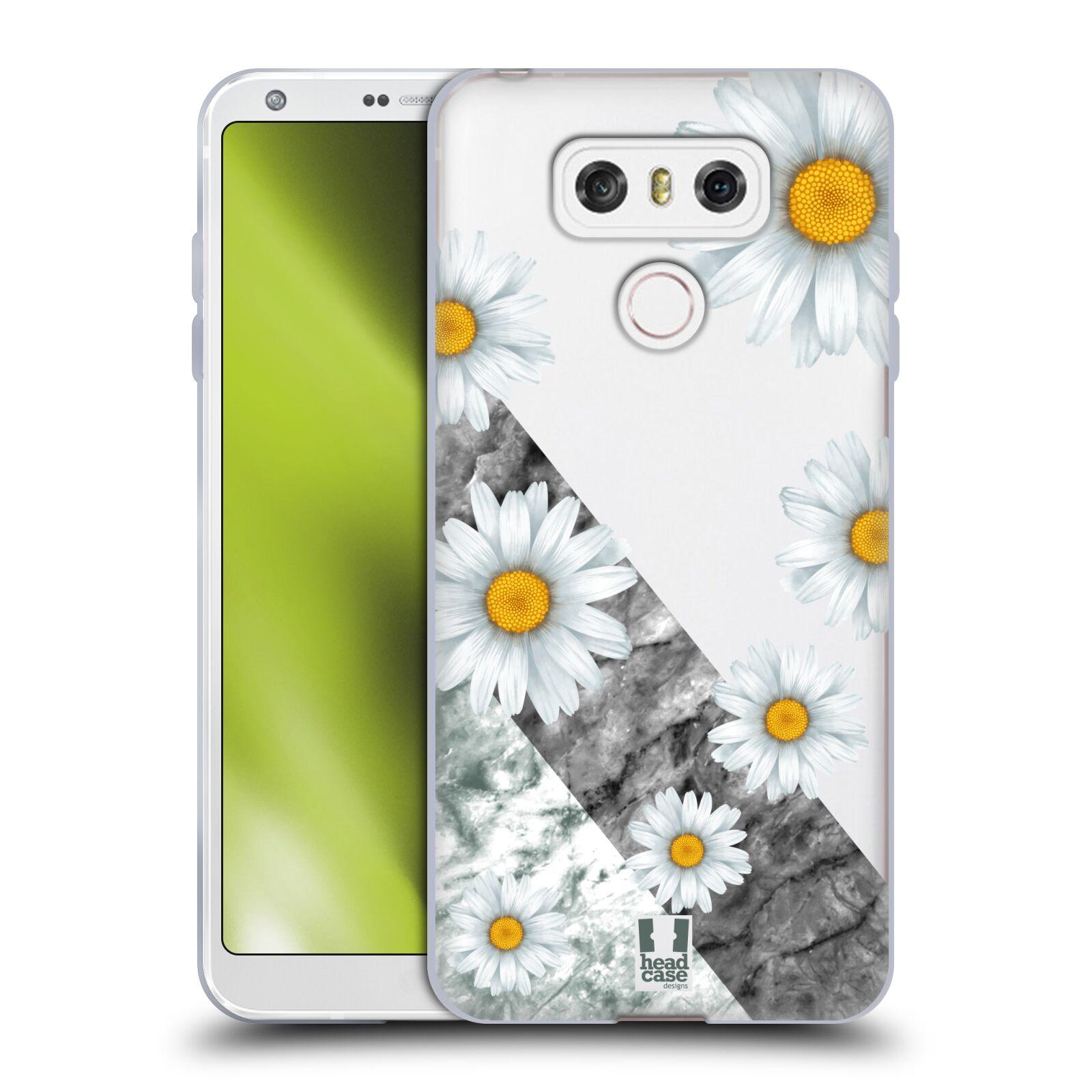 Silikonové pouzdro na mobil LG G6 - Head Case - Kopretiny a mramor