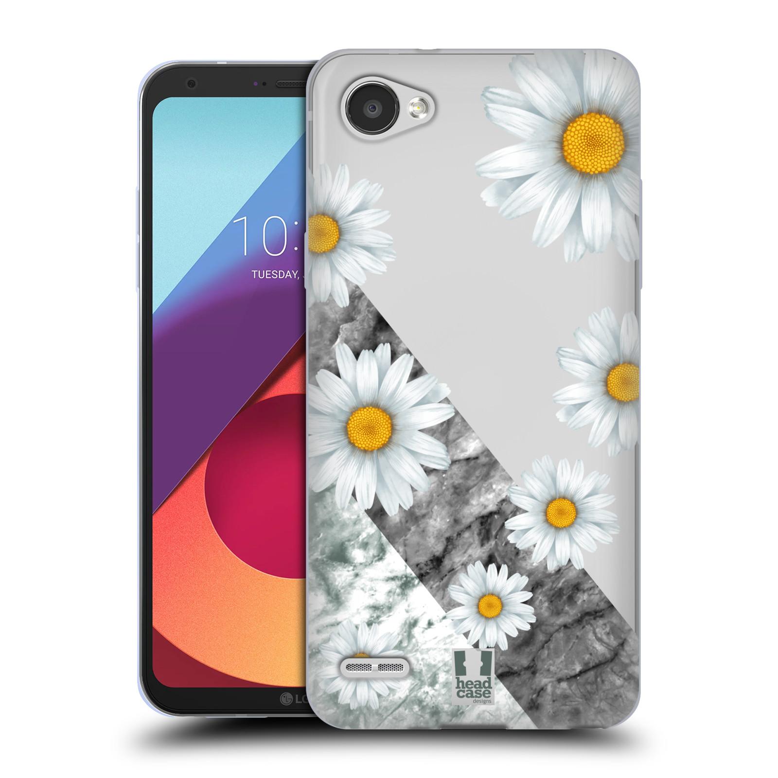 Silikonové pouzdro na mobil LG Q6 - Head Case - Kopretiny a mramor