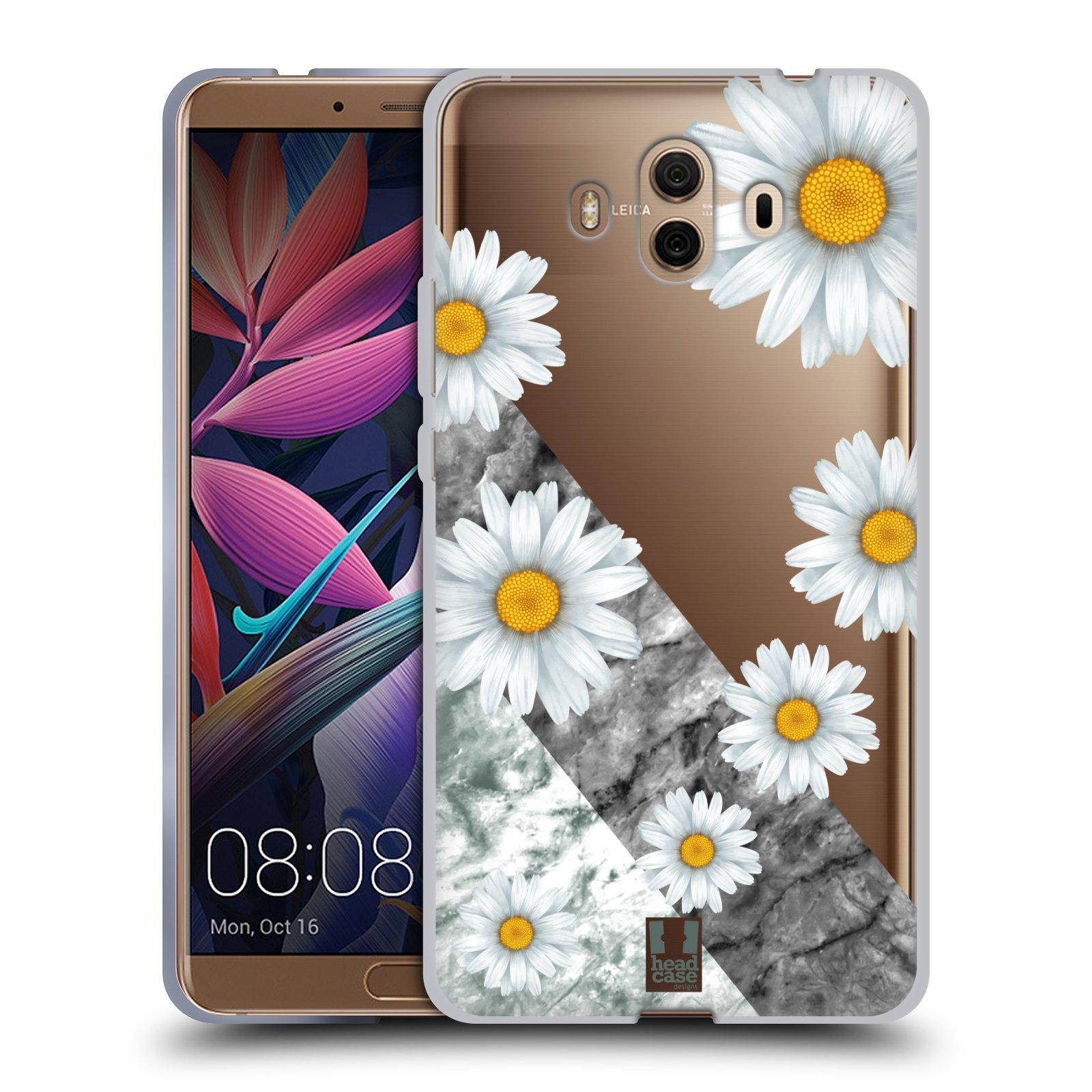 Silikonové pouzdro na mobil Huawei Mate 10 - Head Case - Kopretiny a mramor