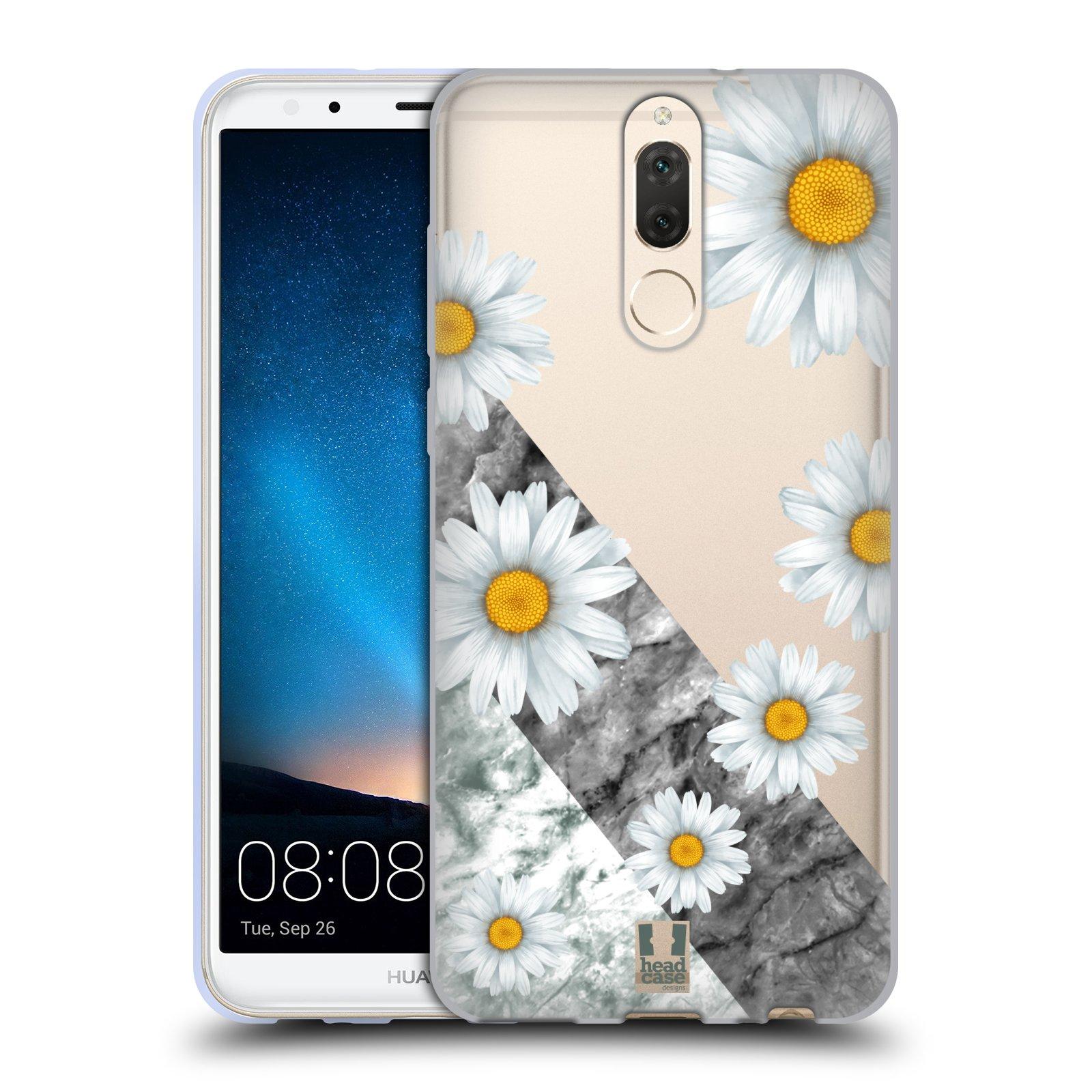 Silikonové pouzdro na mobil Huawei Mate 10 Lite - Head Case - Kopretiny a mramor