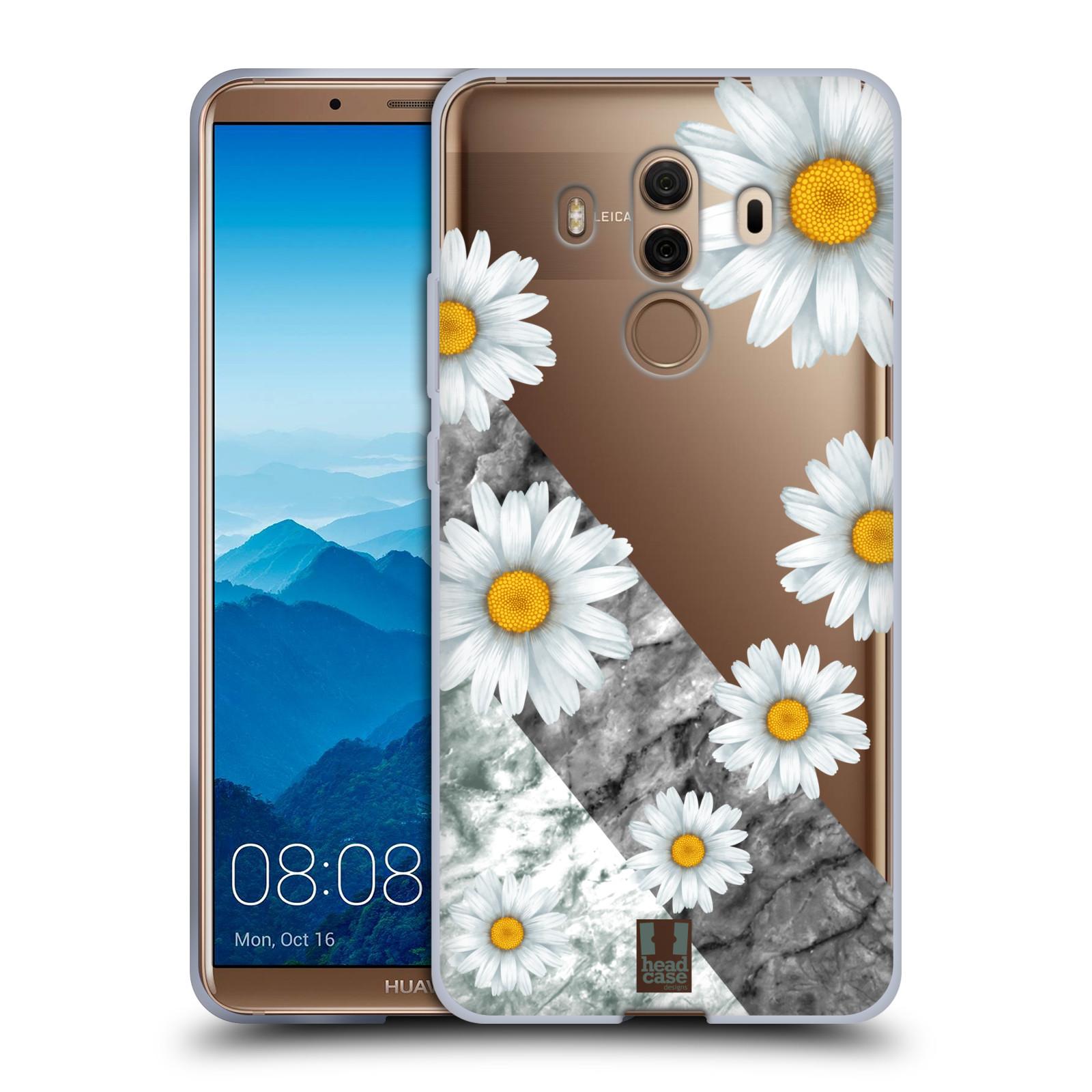 Silikonové pouzdro na mobil Huawei Mate 10 Pro - Head Case - Kopretiny a mramor
