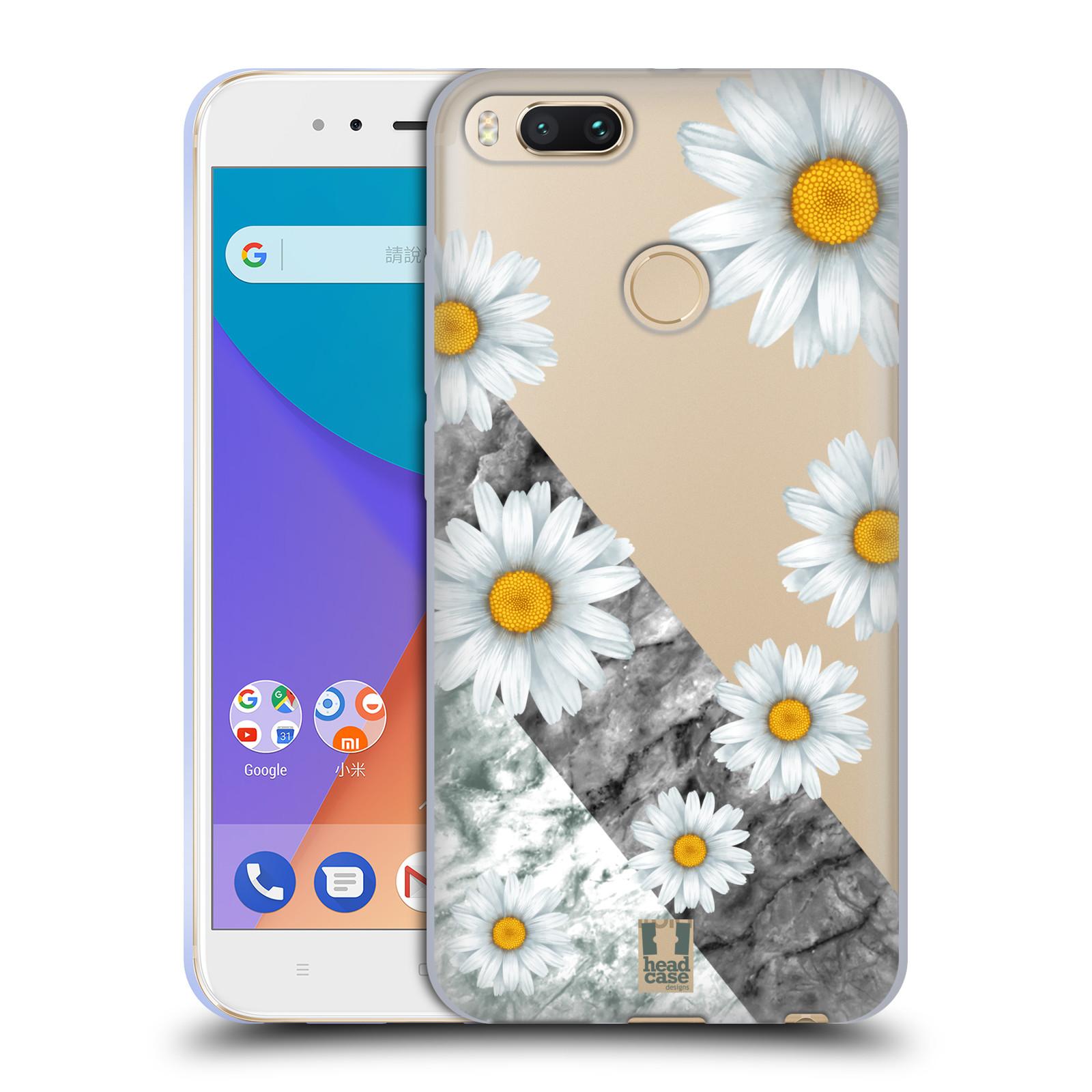 Silikonové pouzdro na mobil Xiaomi Mi A1 - Head Case - Kopretiny a mramor