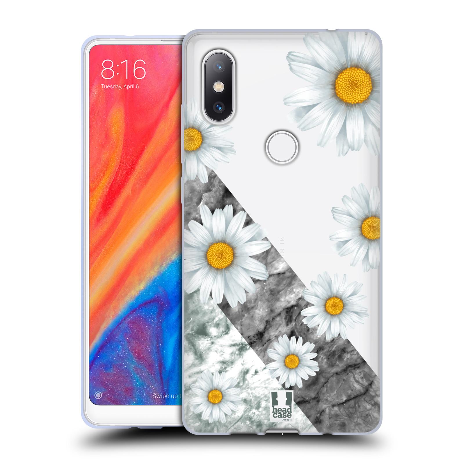Silikonové pouzdro na mobil Xiaomi Mi Mix 2S - Head Case - Kopretiny a mramor