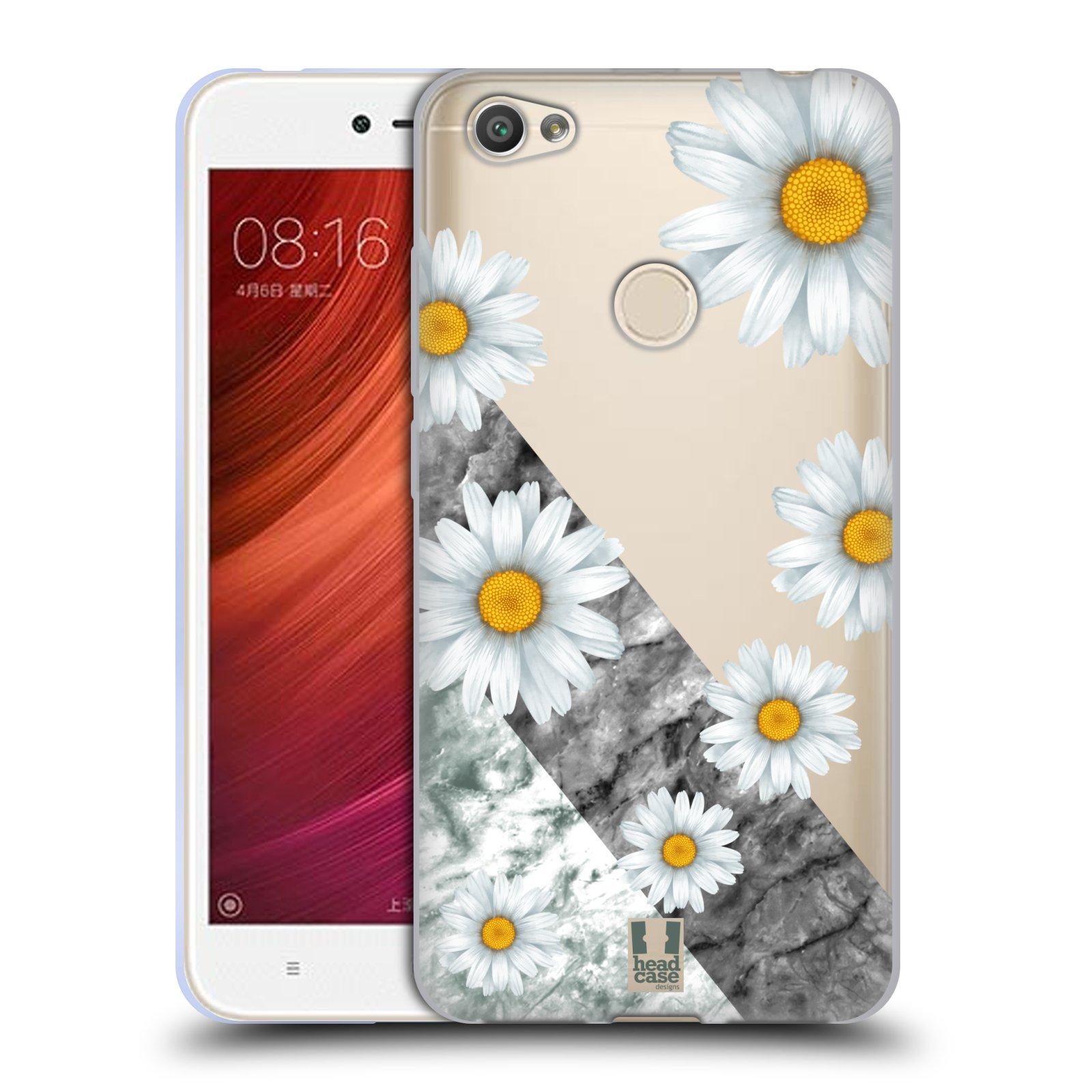 Silikonové pouzdro na mobil Xiaomi Redmi Note 5A - Head Case - Kopretiny a mramor