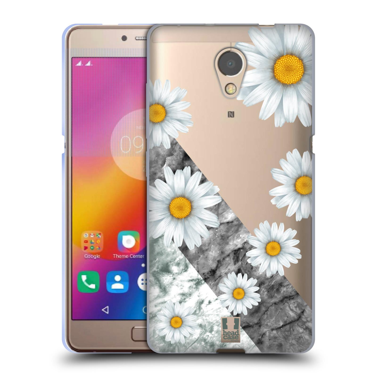 Silikonové pouzdro na mobil Lenovo P2 - Head Case - Kopretiny a mramor