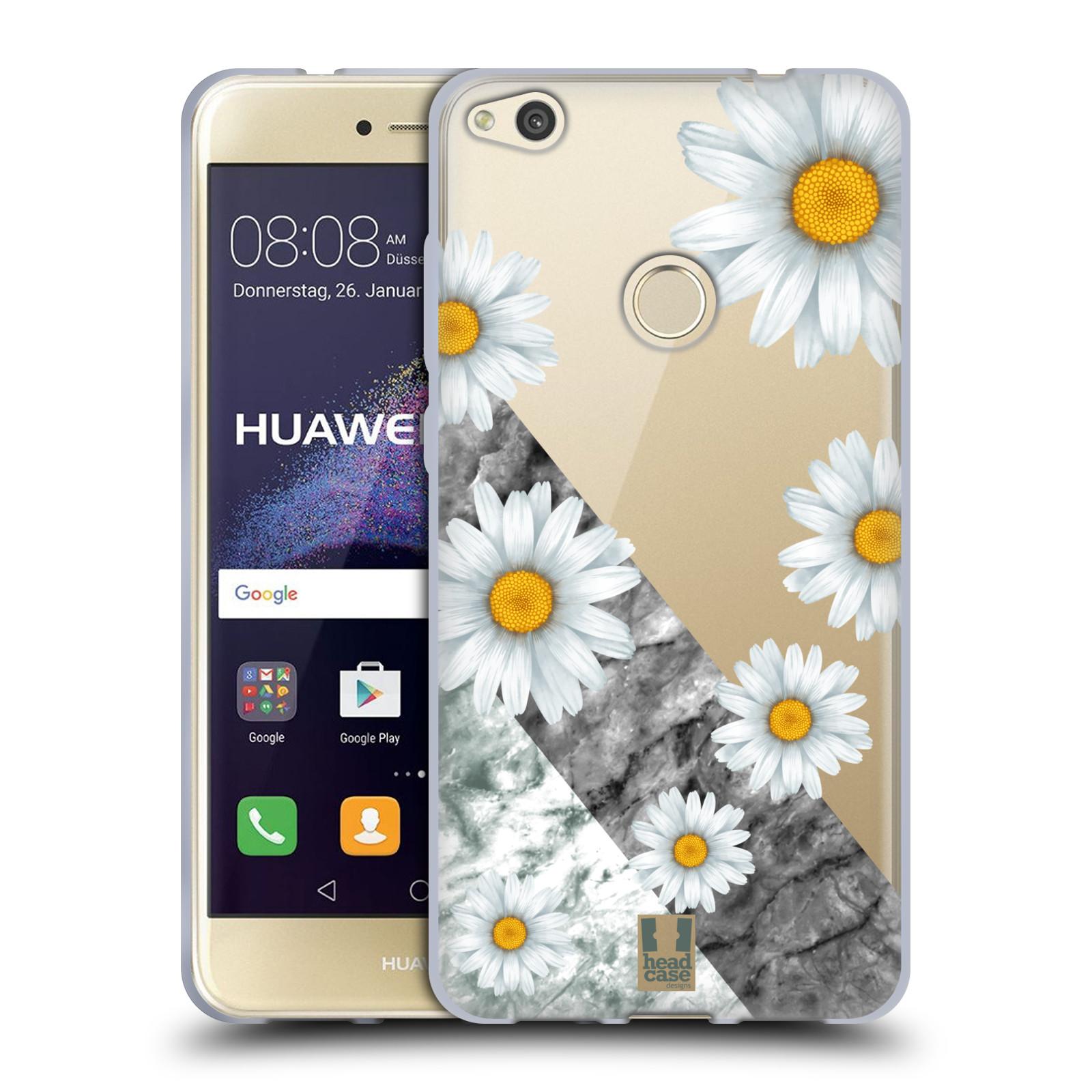 Silikonové pouzdro na mobil Huawei P9 Lite (2017) - Head Case - Kopretiny a mramor