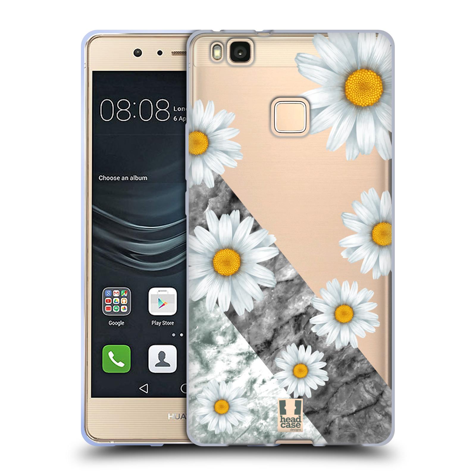 Silikonové pouzdro na mobil Huawei P9 Lite - Head Case - Kopretiny a mramor