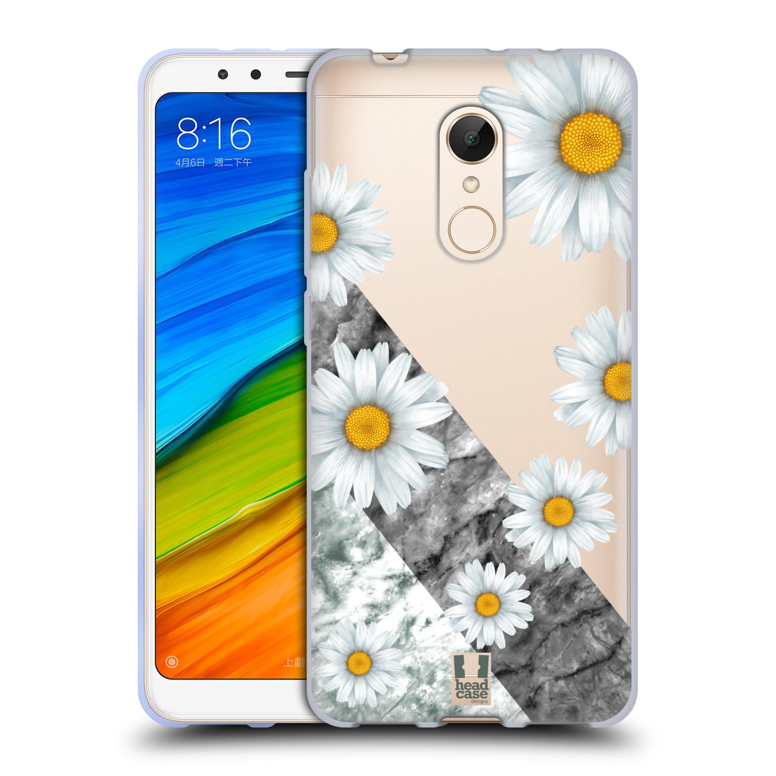 Silikonové pouzdro na mobil Xiaomi Redmi 5 - Head Case - Kopretiny a mramor