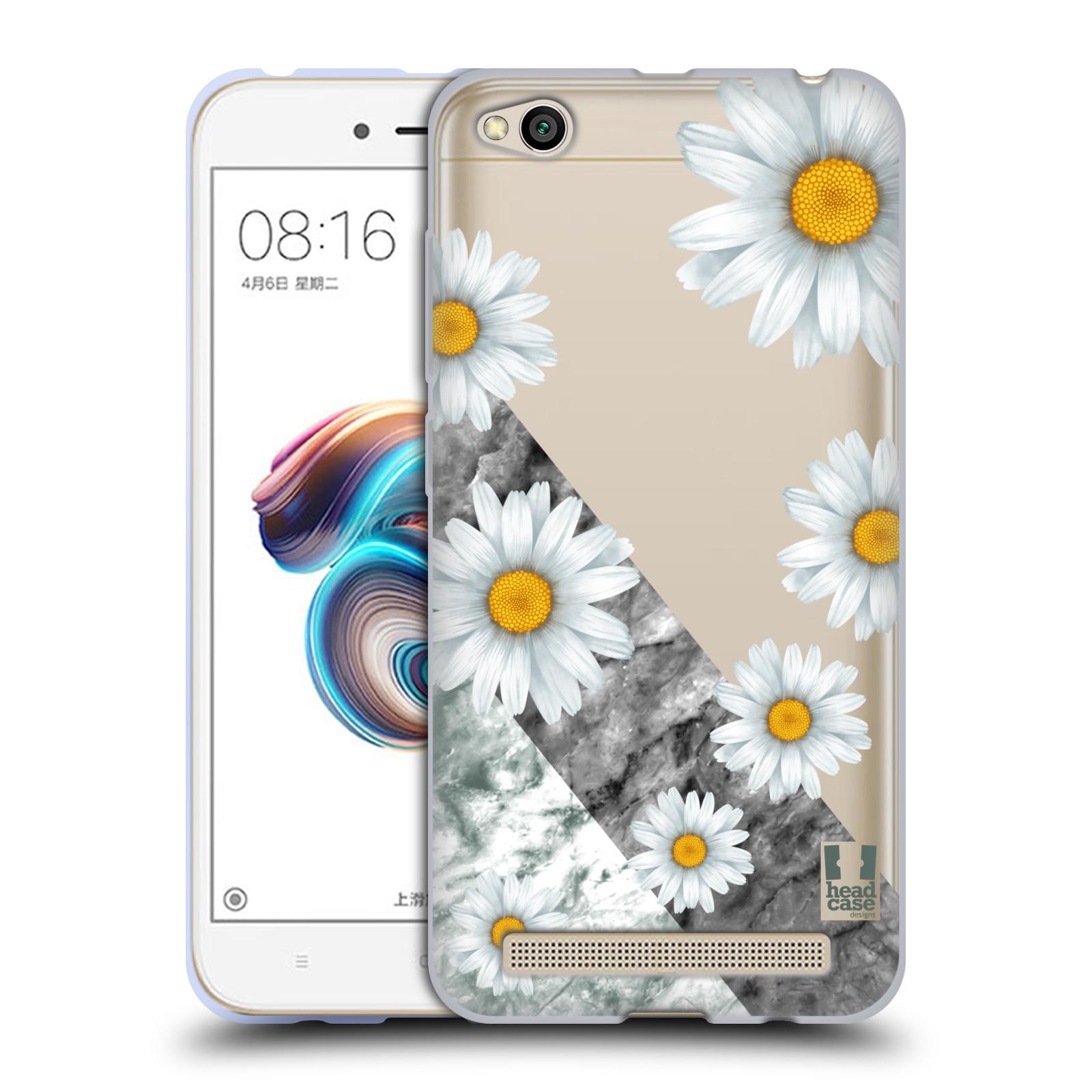 Silikonové pouzdro na mobil Xiaomi Redmi 5A - Head Case - Kopretiny a mramor