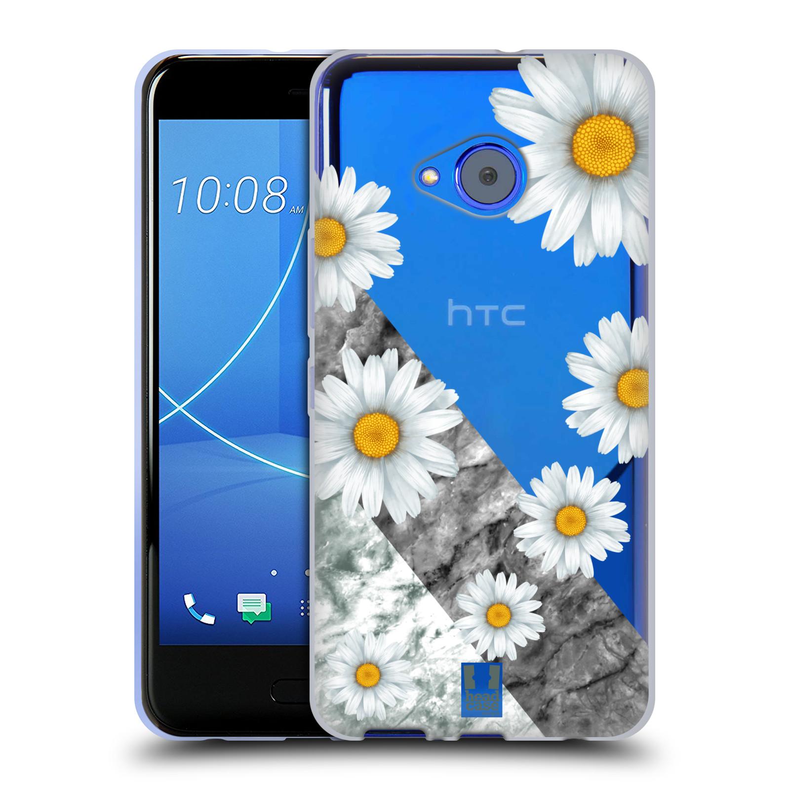 Silikonové pouzdro na mobil HTC U11 Life - Head Case - Kopretiny a mramor