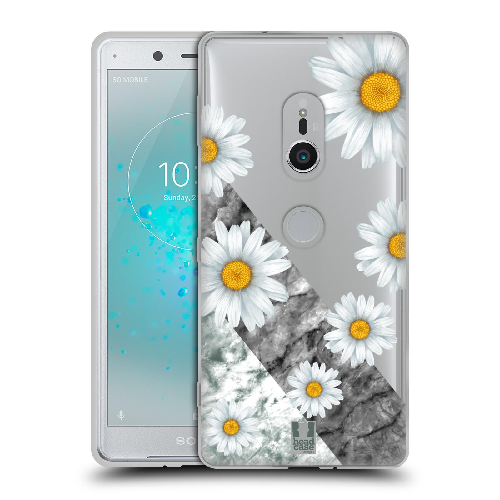 Silikonové pouzdro na mobil Sony Xperia XZ2 - Head Case - Kopretiny a mramor