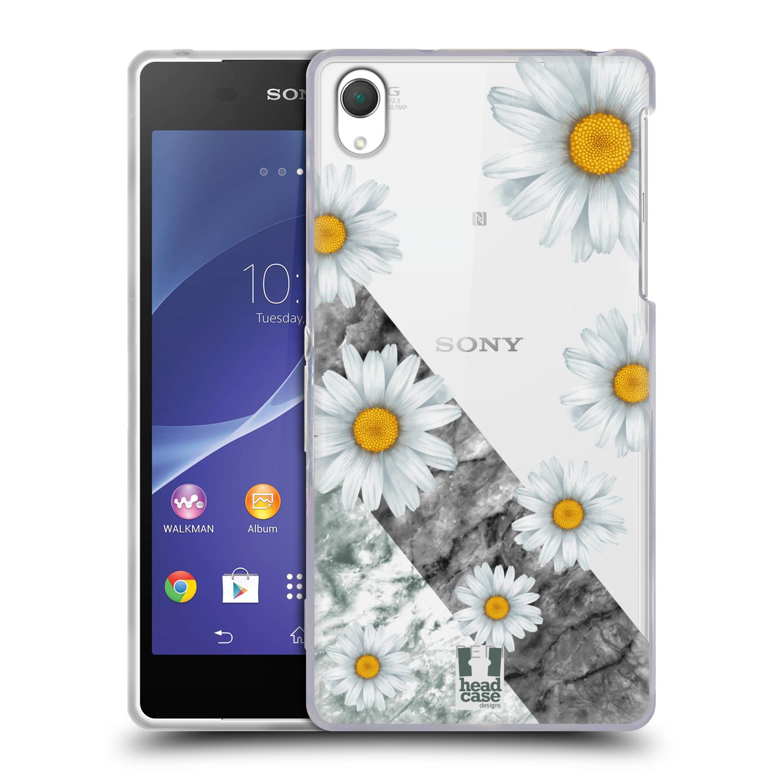 Silikonové pouzdro na mobil Sony Xperia Z2 D6503 - Head Case - Kopretiny a mramor