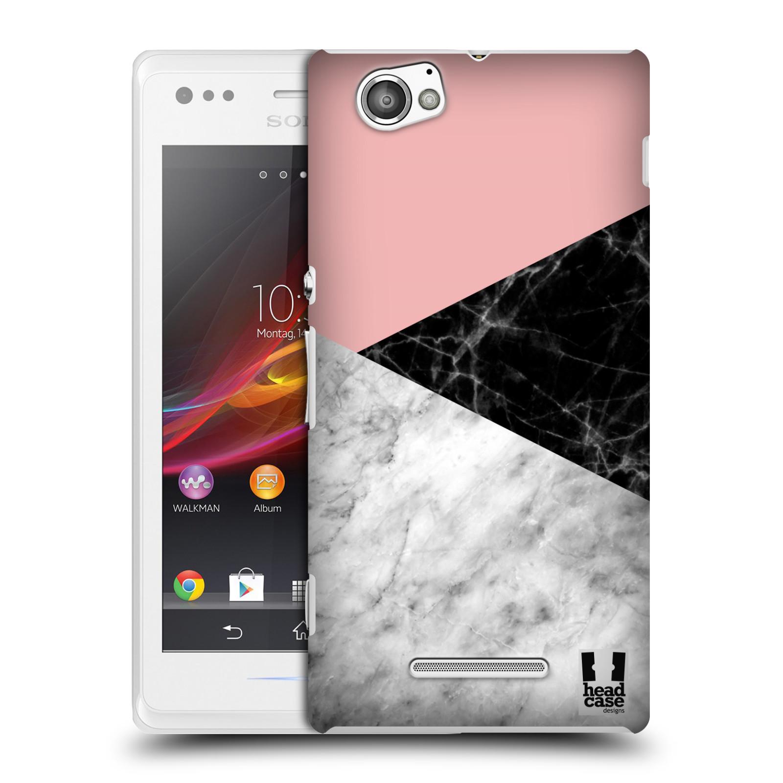 Plastové pouzdro na mobil Sony Xperia M C1905 - Head Case - Mramor mix
