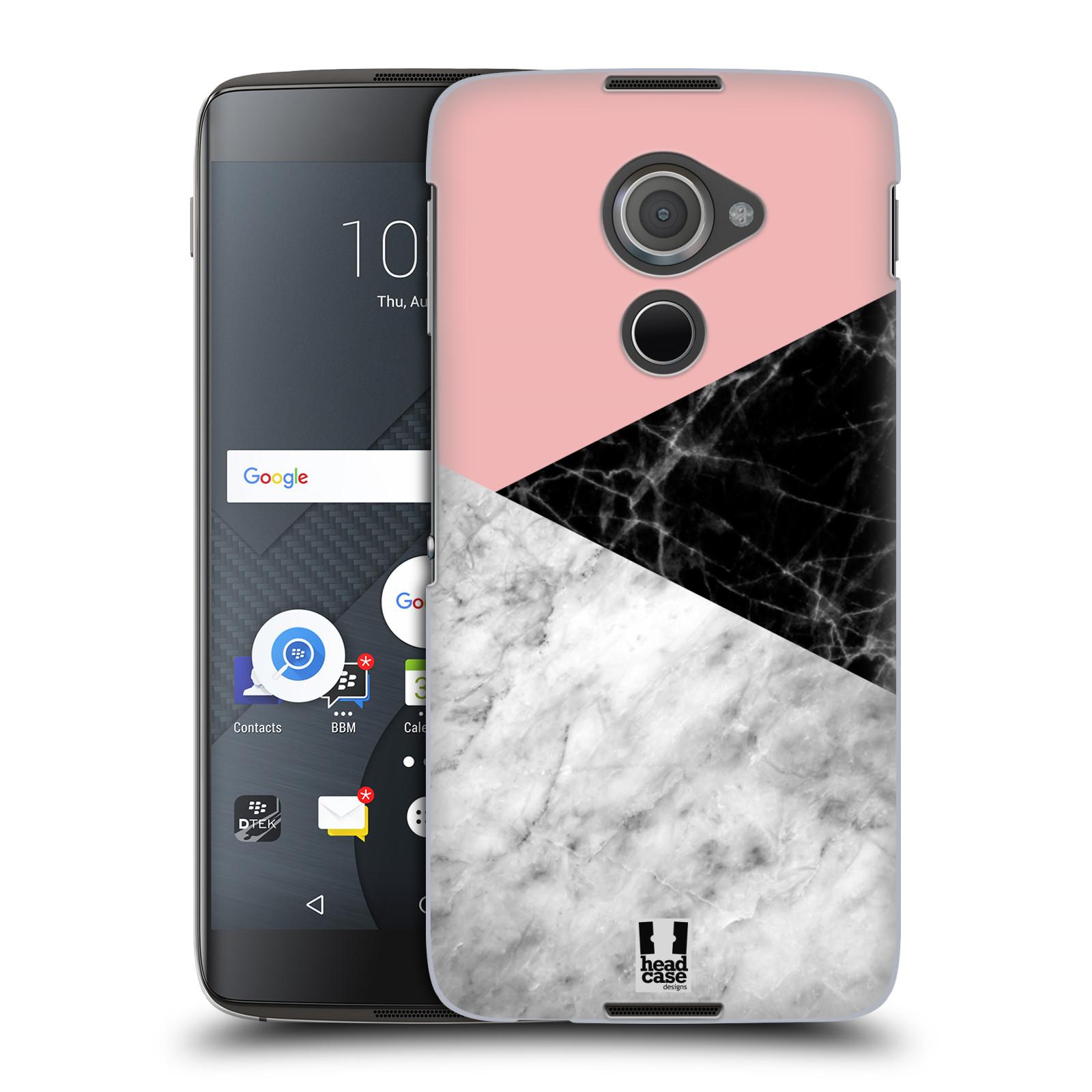 Plastové pouzdro na mobil Blackberry DTEK60 (Argon) - Head Case - Mramor mix