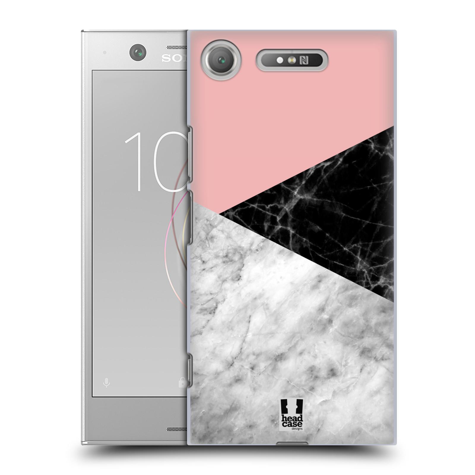 Plastové pouzdro na mobil Sony Xperia XZ1 - Head Case - Mramor mix