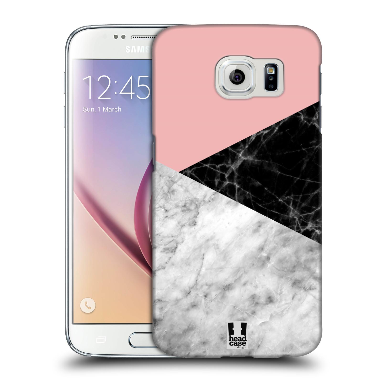Plastové pouzdro na mobil Samsung Galaxy S6 - Head Case - Mramor mix