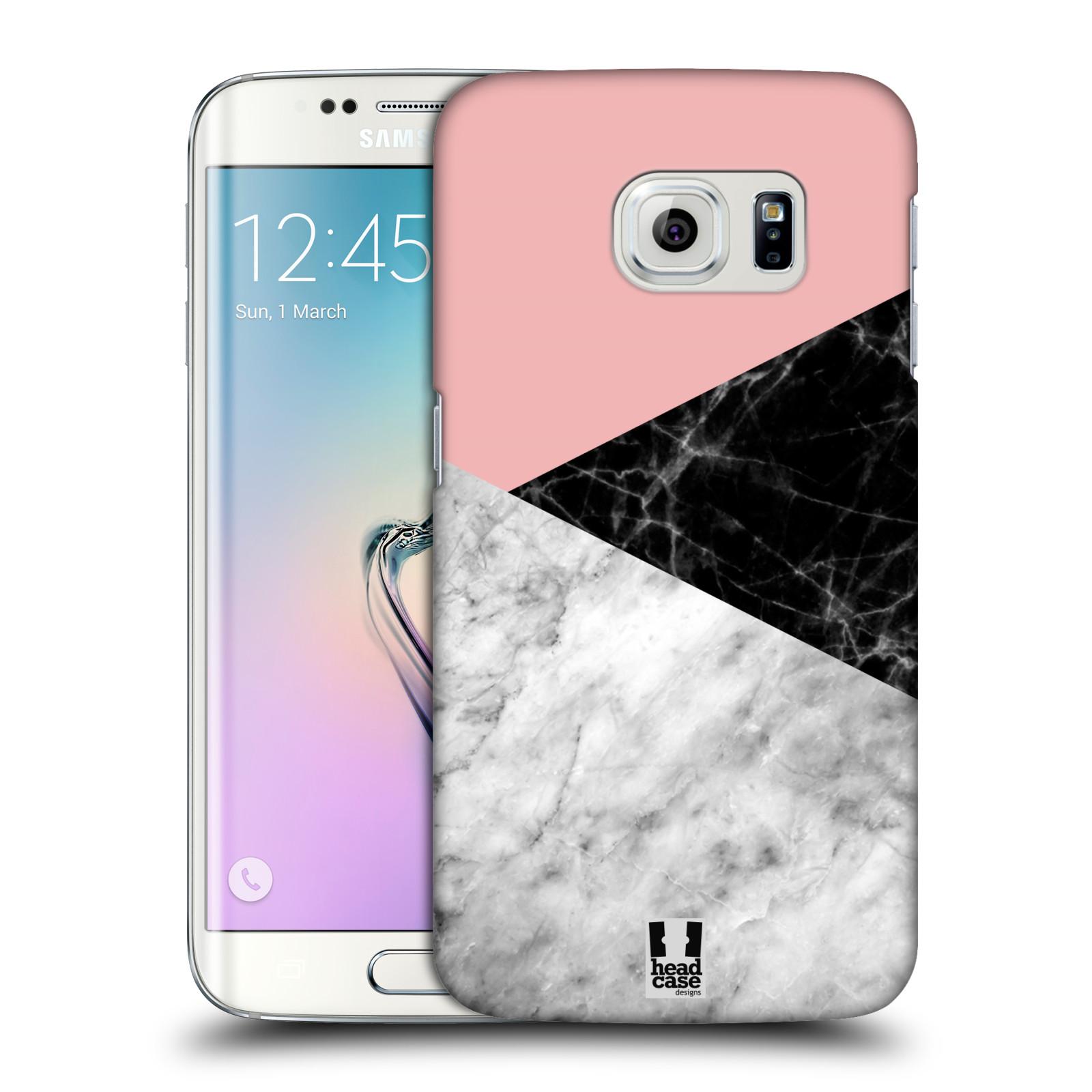 Plastové pouzdro na mobil Samsung Galaxy S6 Edge - Head Case - Mramor mix