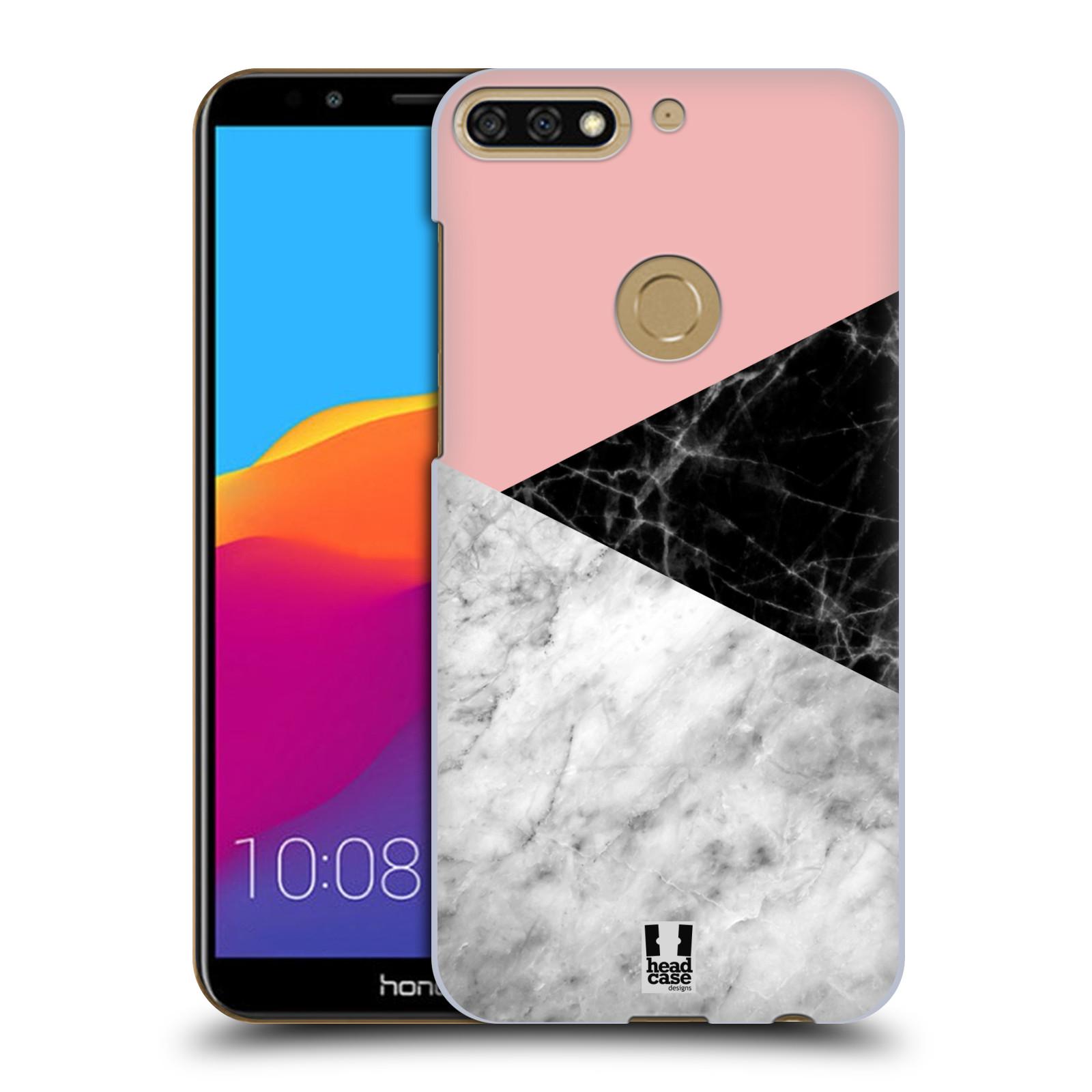 Plastové pouzdro na mobil Huawei Y7 Prime 2018 - Head Case - Mramor mix