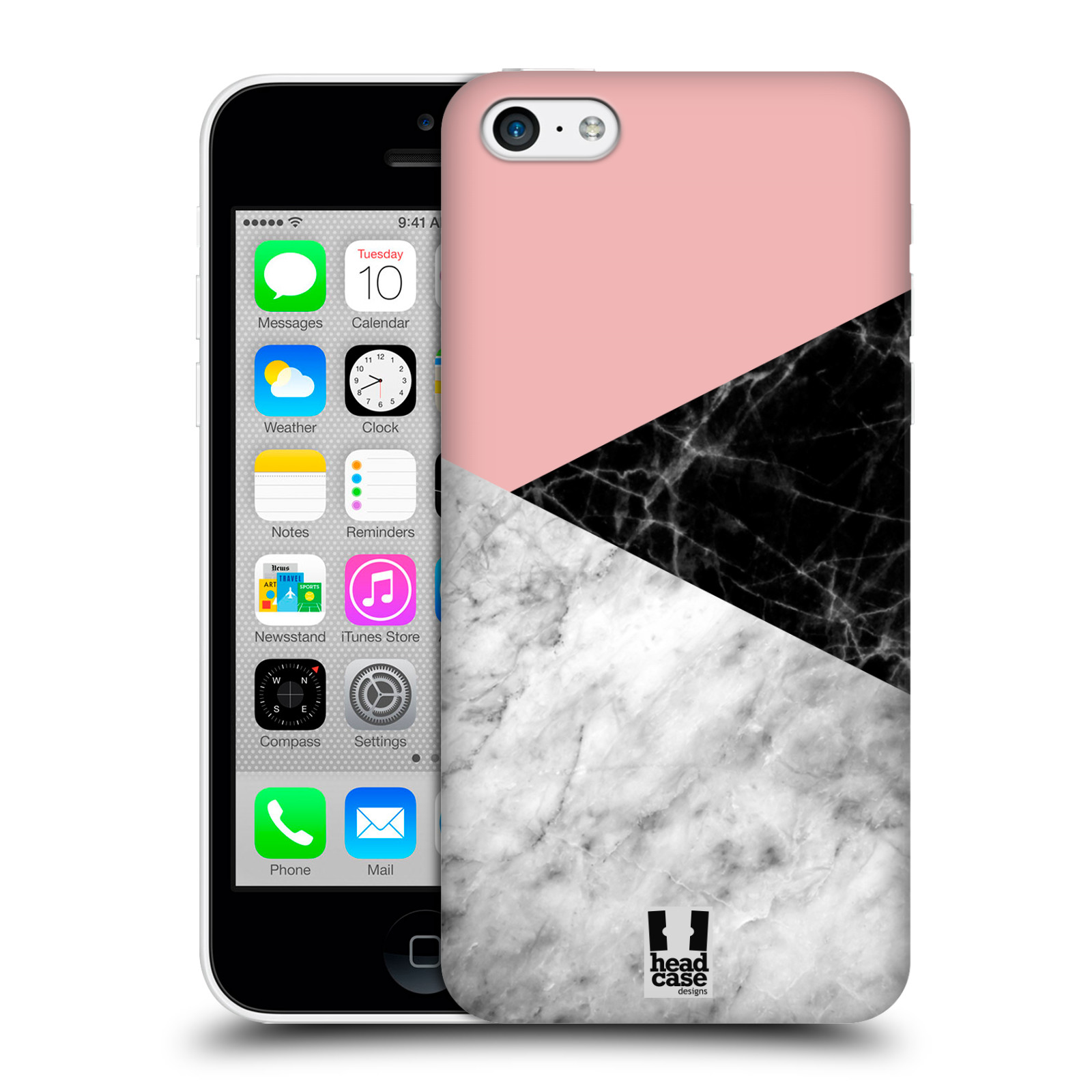 Plastové pouzdro na mobil Apple iPhone 5C - Head Case - Mramor mix
