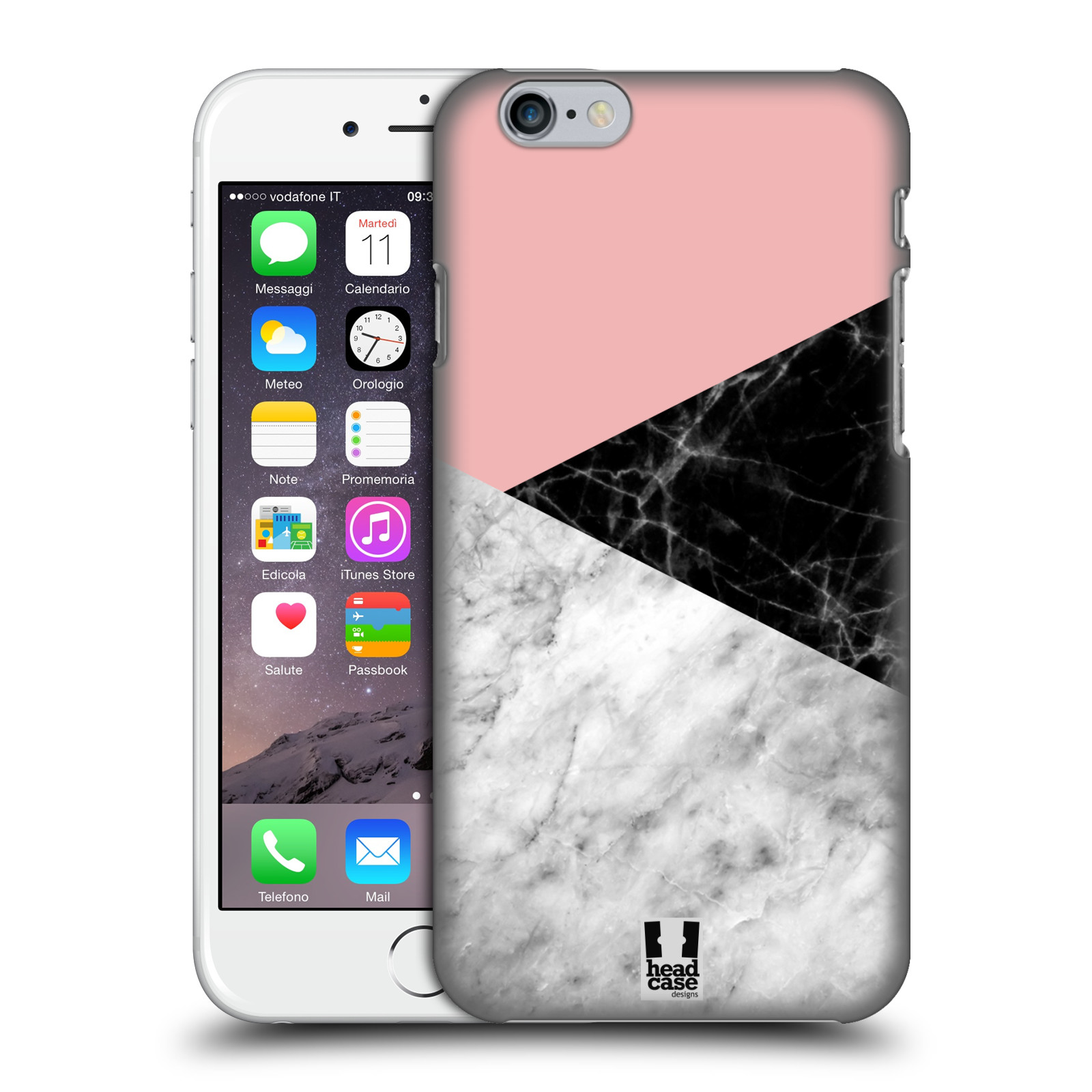 Plastové pouzdro na mobil Apple iPhone 6 - Head Case - Mramor mix