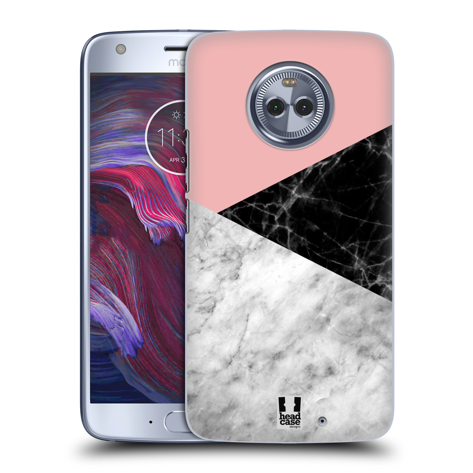 Plastové pouzdro na mobil Lenovo Moto X4 - Head Case - Mramor mix