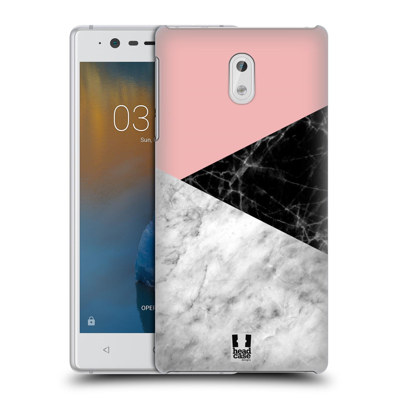 Plastové pouzdro na mobil Nokia 3 Head Case - Mramor mix