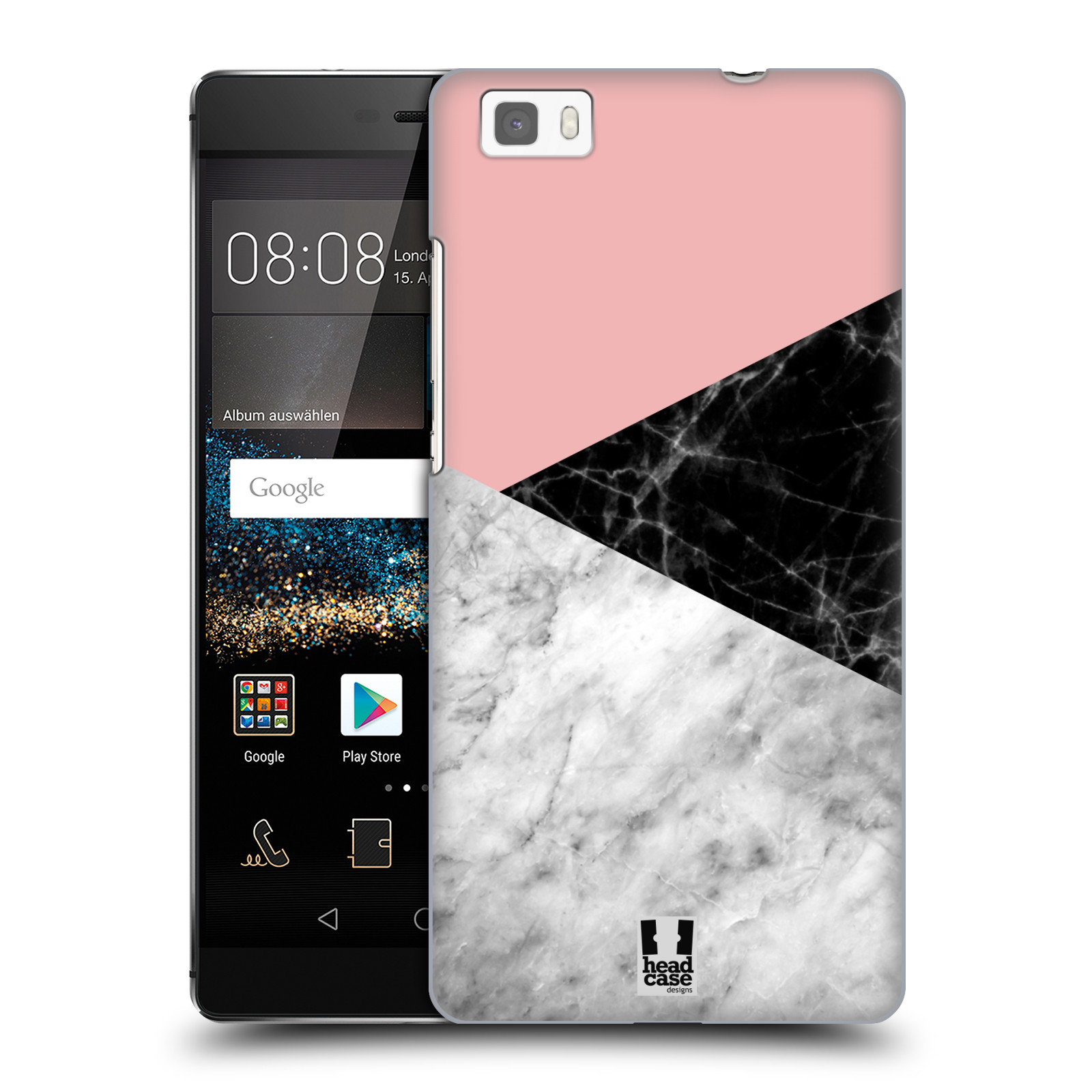 Plastové pouzdro na mobil Huawei P8 Lite - Head Case - Mramor mix