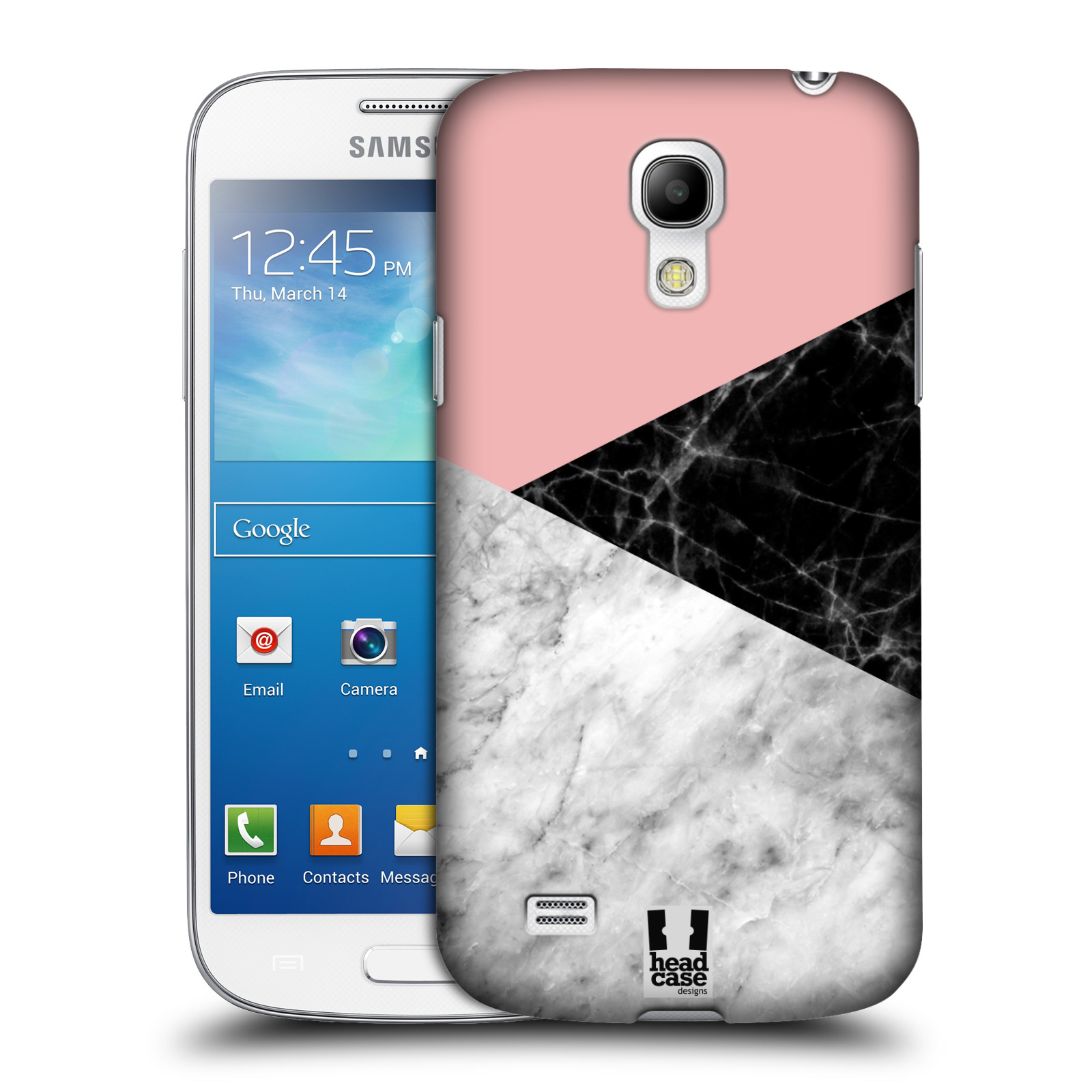 Plastové pouzdro na mobil Samsung Galaxy S4 Mini - Head Case - Mramor mix (Plastový kryt či obal na mobilní telefon s motivem Mramor mix pro Samsung Galaxy S4 Mini GT-i9195 / i9190)