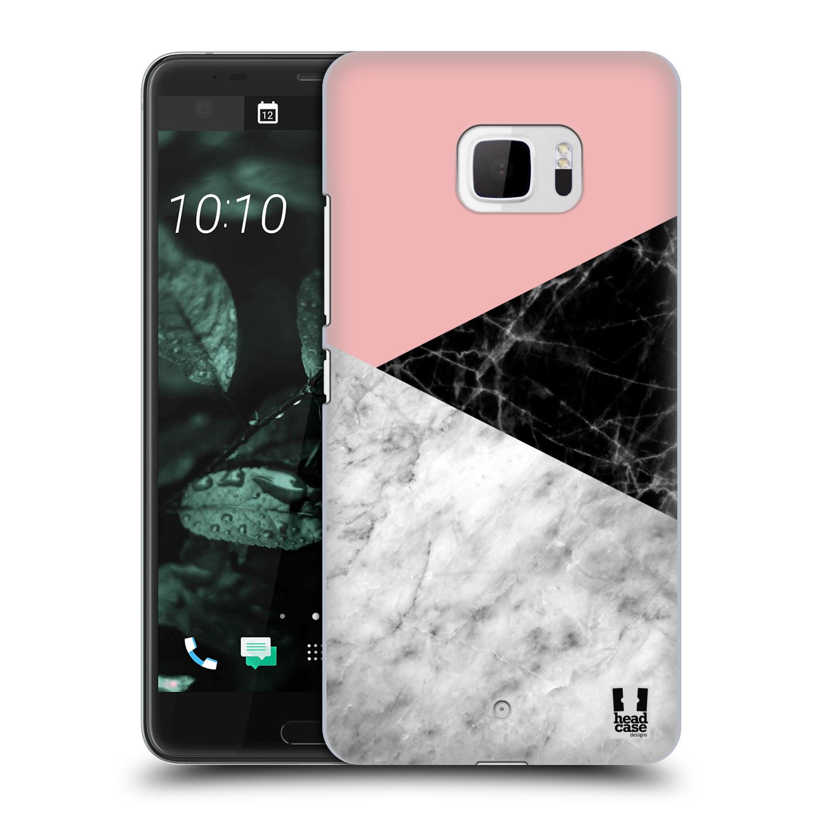 Plastové pouzdro na mobil HTC U Ultra Head Case - Mramor mix (Plastový kryt či obal na mobilní telefon s motivem Mramor mix pro HTC U Ultra (99HALT015-00))