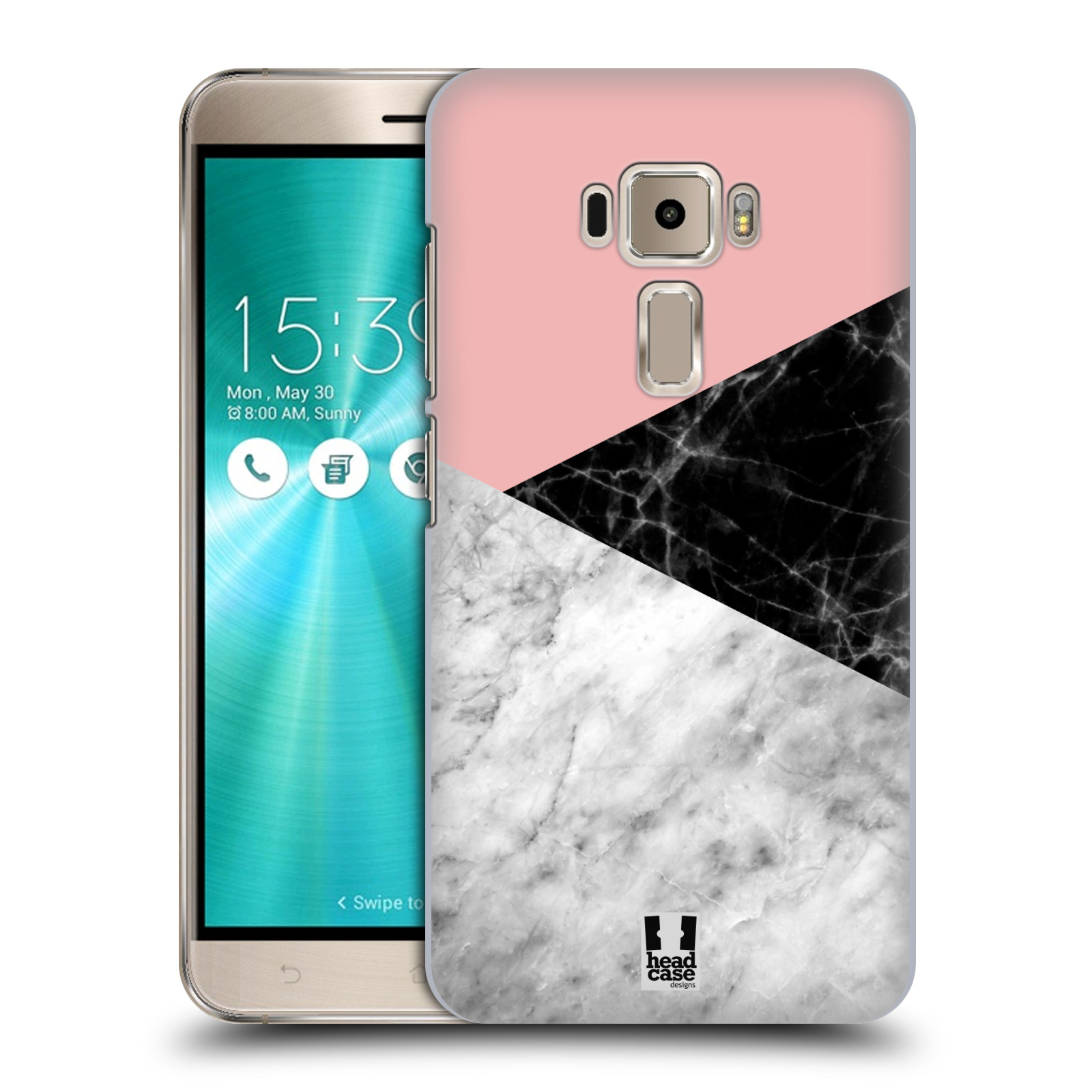 Plastové pouzdro na mobil Asus ZenFone 3 ZE520KL - Head Case - Mramor mix