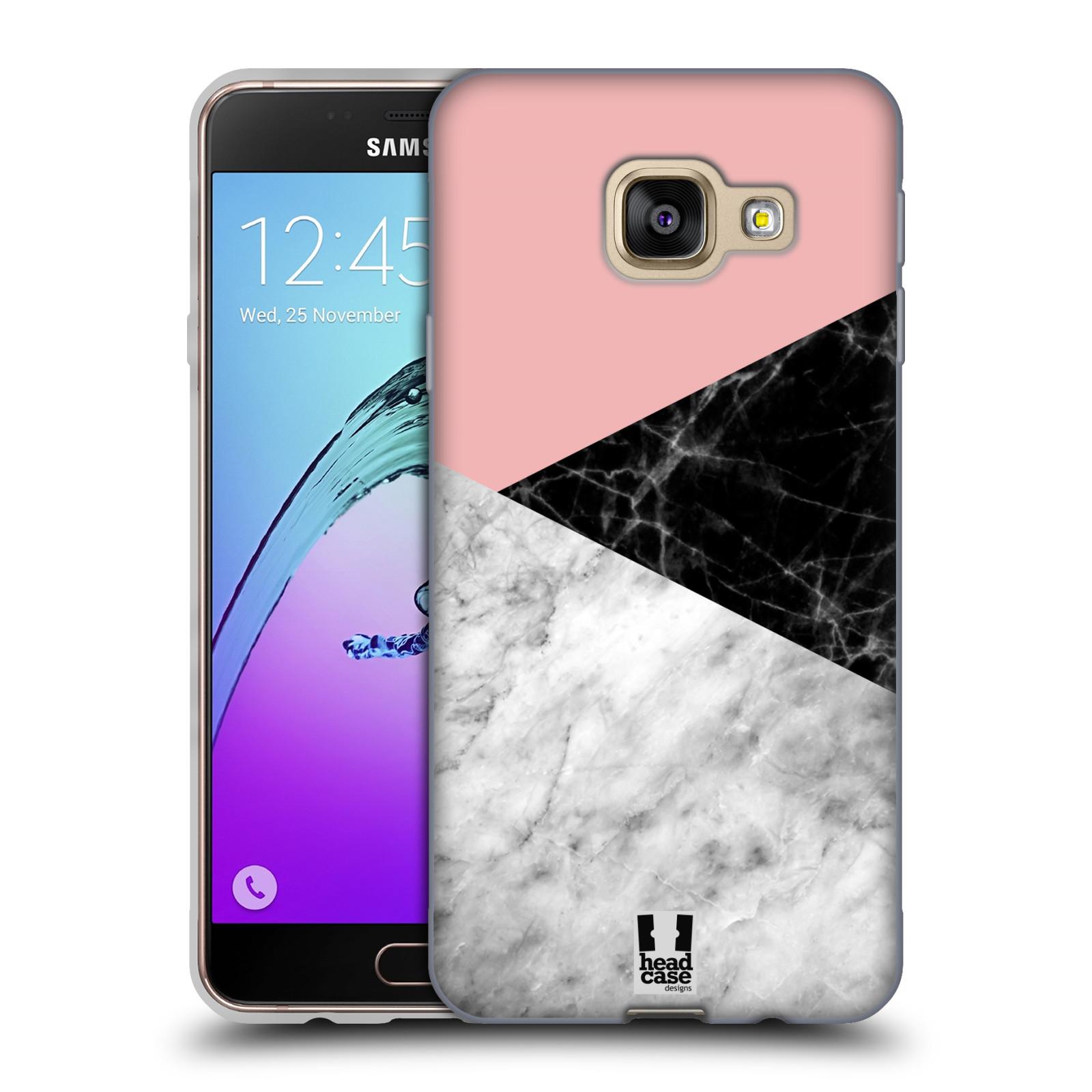 Silikonové pouzdro na mobil Samsung Galaxy A3 (2016) - Head Case - Mramor mix