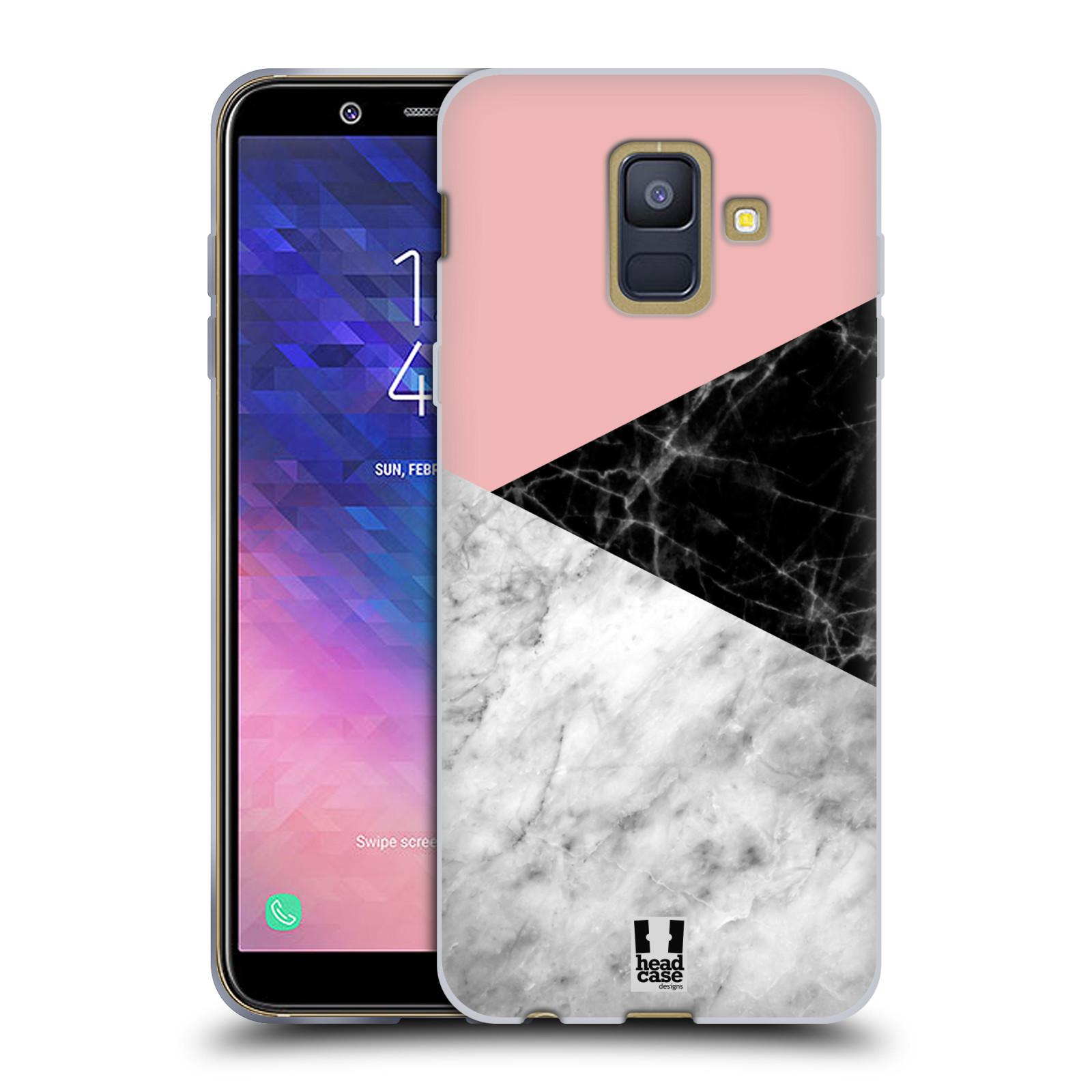 Silikonové pouzdro na mobil Samsung Galaxy A6 (2018) - Head Case - Mramor mix